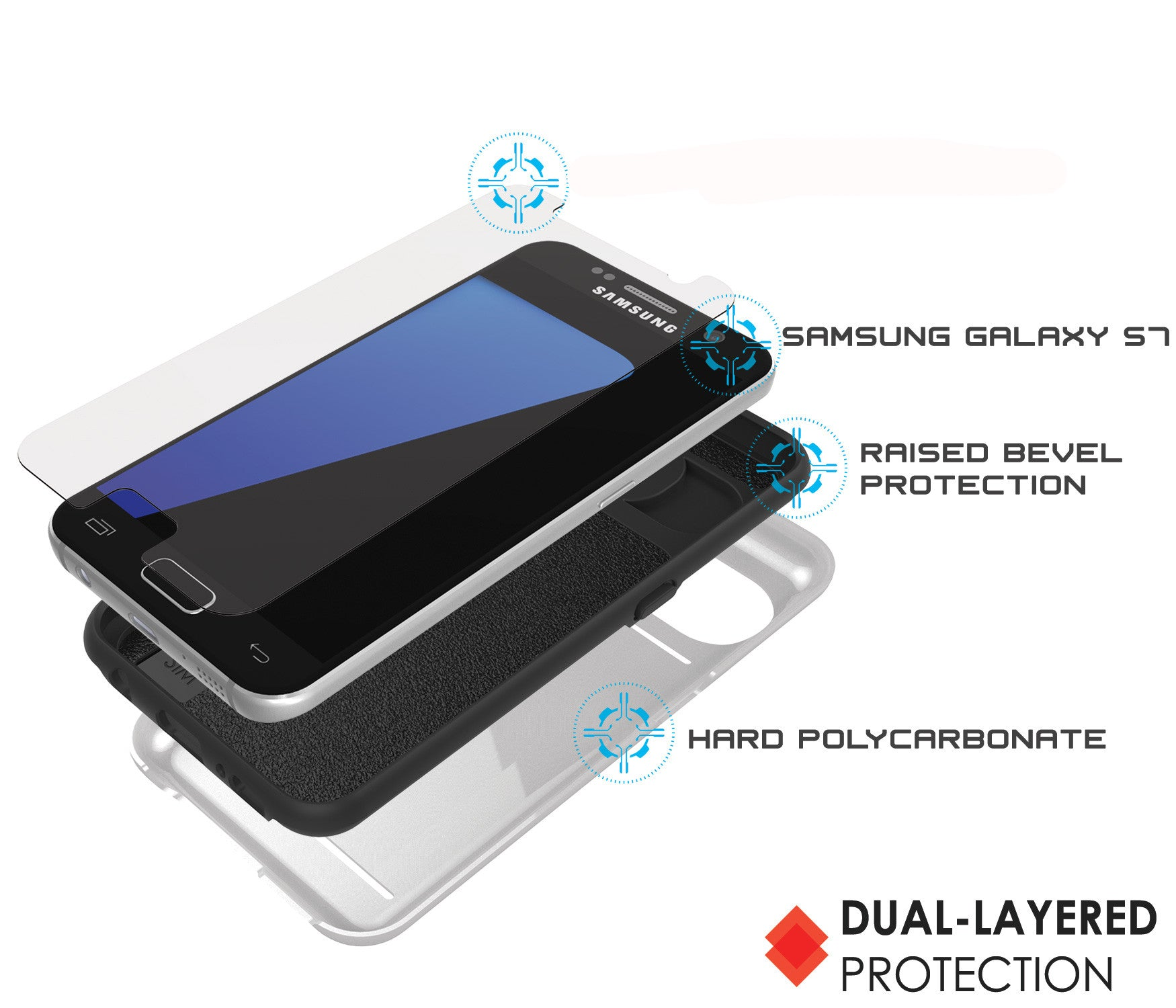 Galaxy S7 EDGE Case PunkCase CLUTCH White Series Slim Armor Soft Cover Case w/ Screen Protector