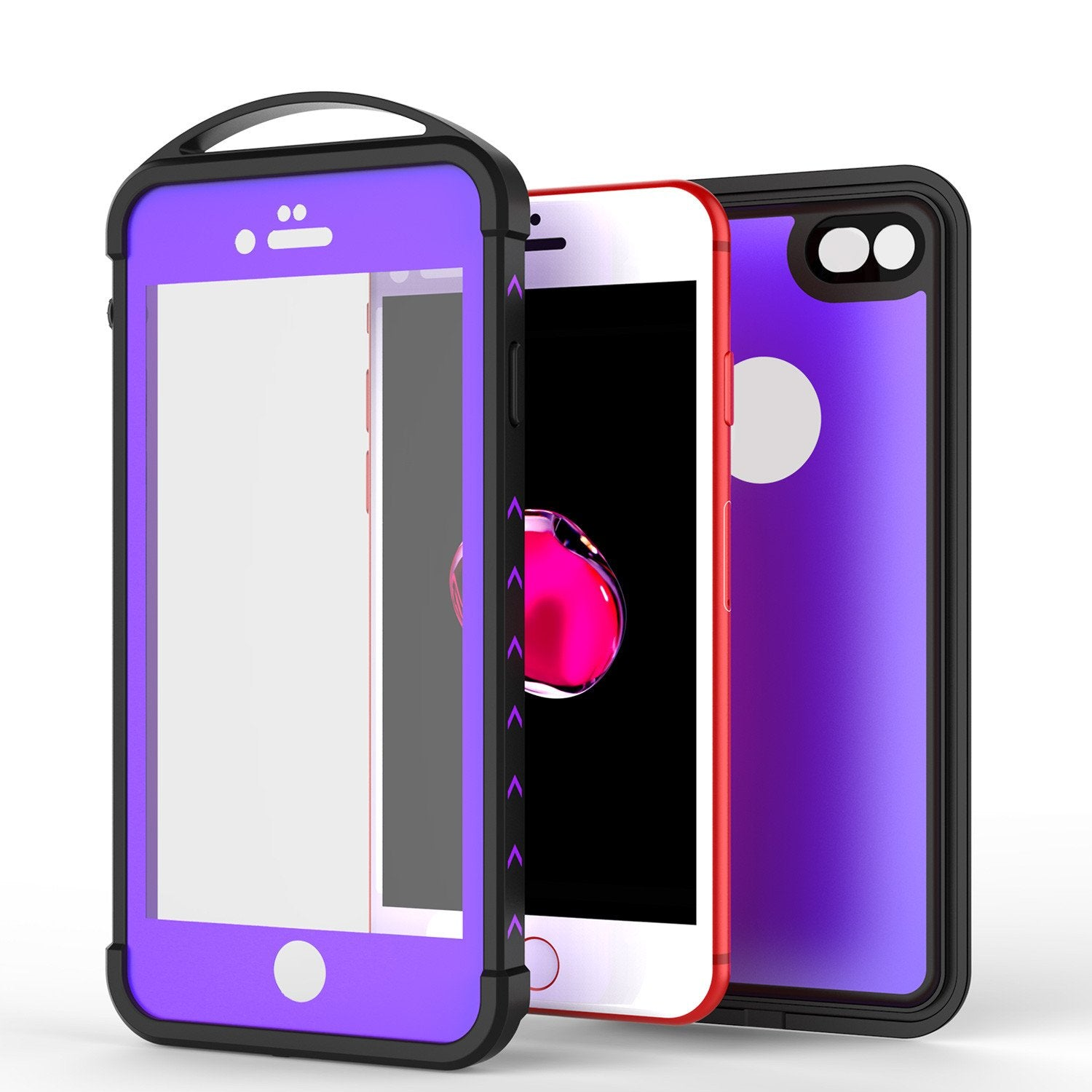 iPhone 8 Waterproof Case, Punkcase ALPINE Series, Purple | Heavy Duty Armor Cover