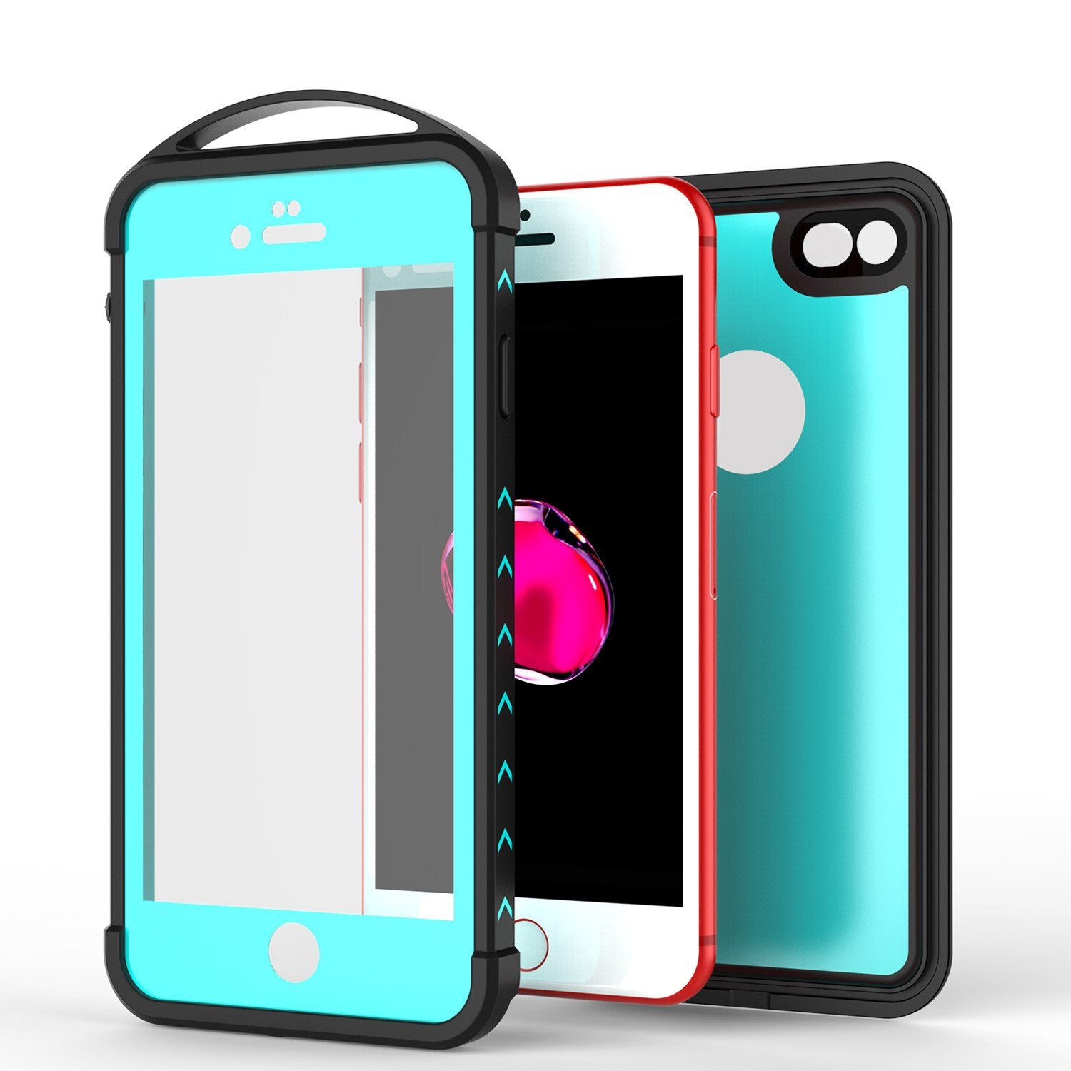 iPhone 8 Waterproof Case, Punkcase ALPINE Series, Teal | Heavy Duty Armor Cover