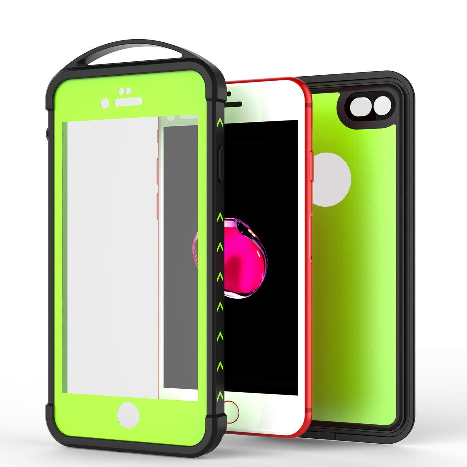 iPhone 7 Waterproof Case, Punkcase ALPINE Series, Light Green | Heavy Duty Armor Cover