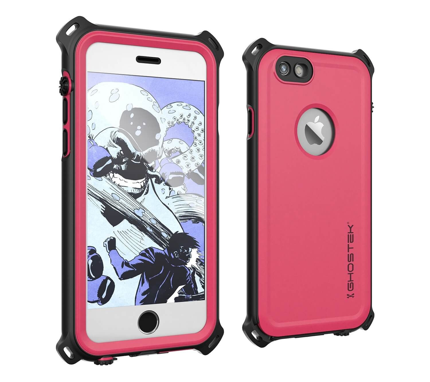iPhone 6S/6 Waterproof Case, Ghostek® Nautical Pink Series| Underwater | Aluminum Frame | Ultra Fit