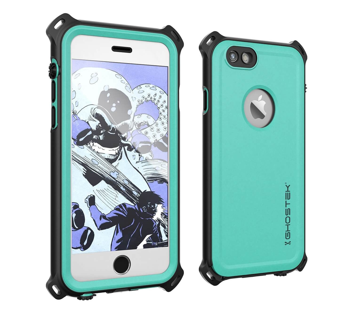 iPhone 6S/6 Waterproof Case, Ghostek® Nautical Teal Series| Underwater | Aluminum Frame | Ultra Fit