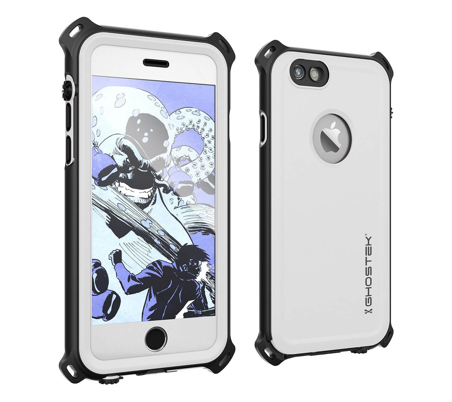 iPhone 6S/6 Waterproof Case, Ghostek® Nautical White Series| Underwater | Aluminum Frame | Ultra Fit