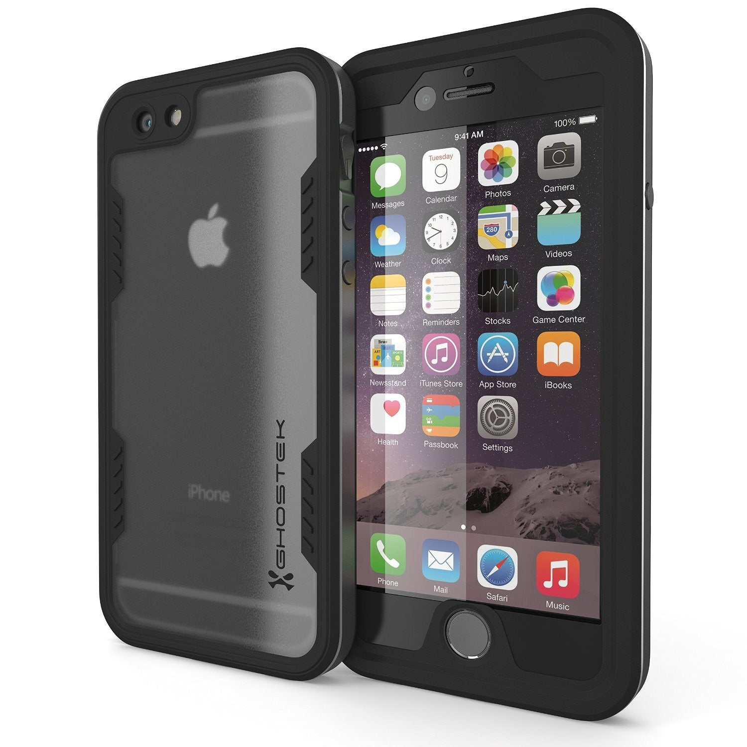 iPhone 6/6S Waterproof Case, Ghostek Atomic 2.0 Space Gray W/ Attached Screen Protector | Slim Fit
