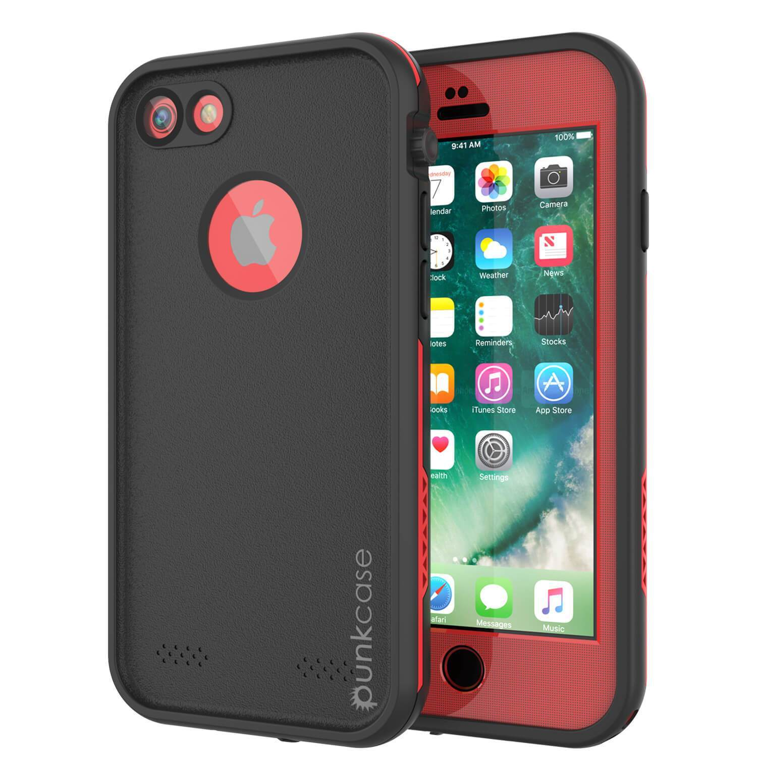 "iPhone SE (4.7"") Waterproof Case, Punkcase SpikeStar Red Series 