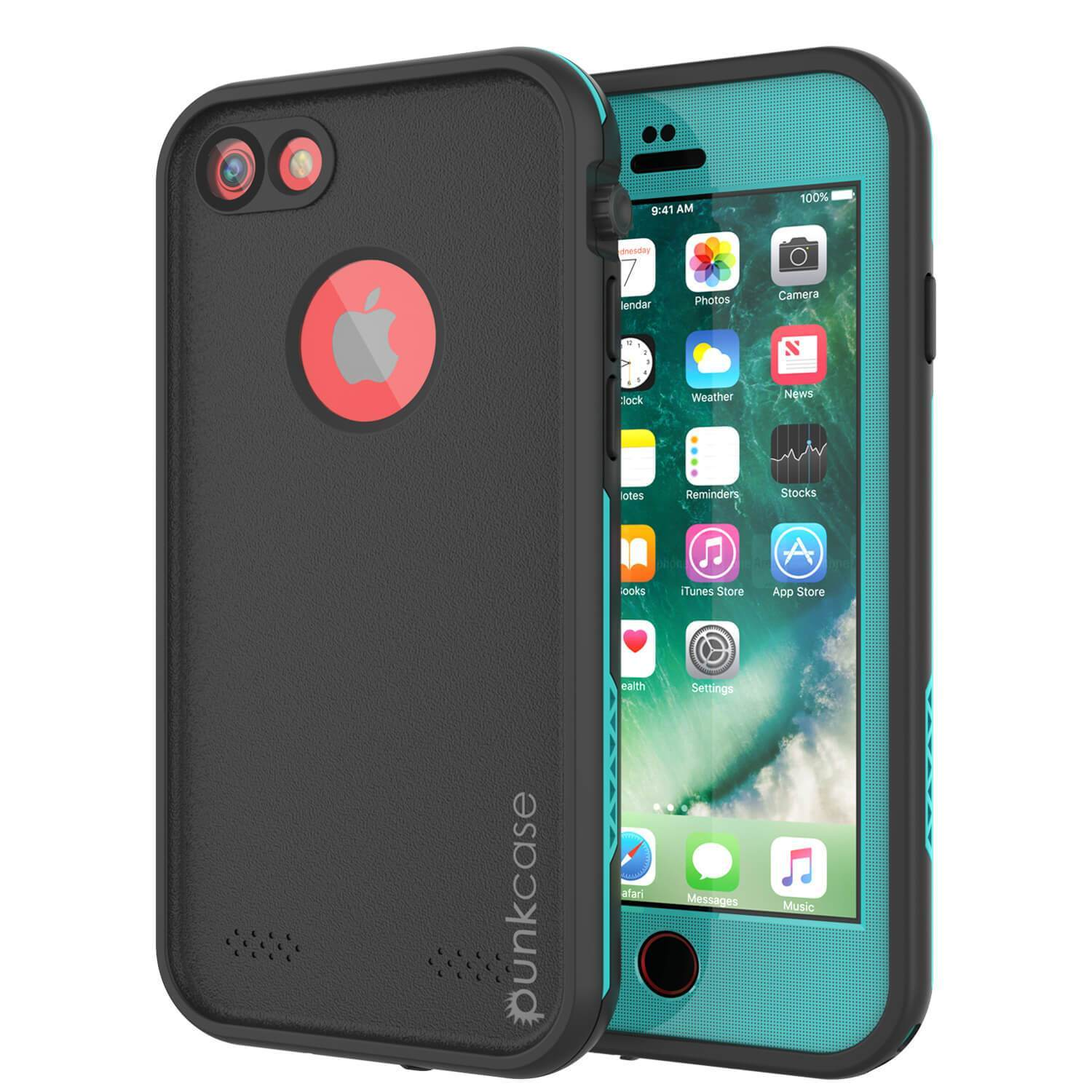 "iPhone SE (4.7"") Waterproof Case, Punkcase SpikeStar Teal Series 