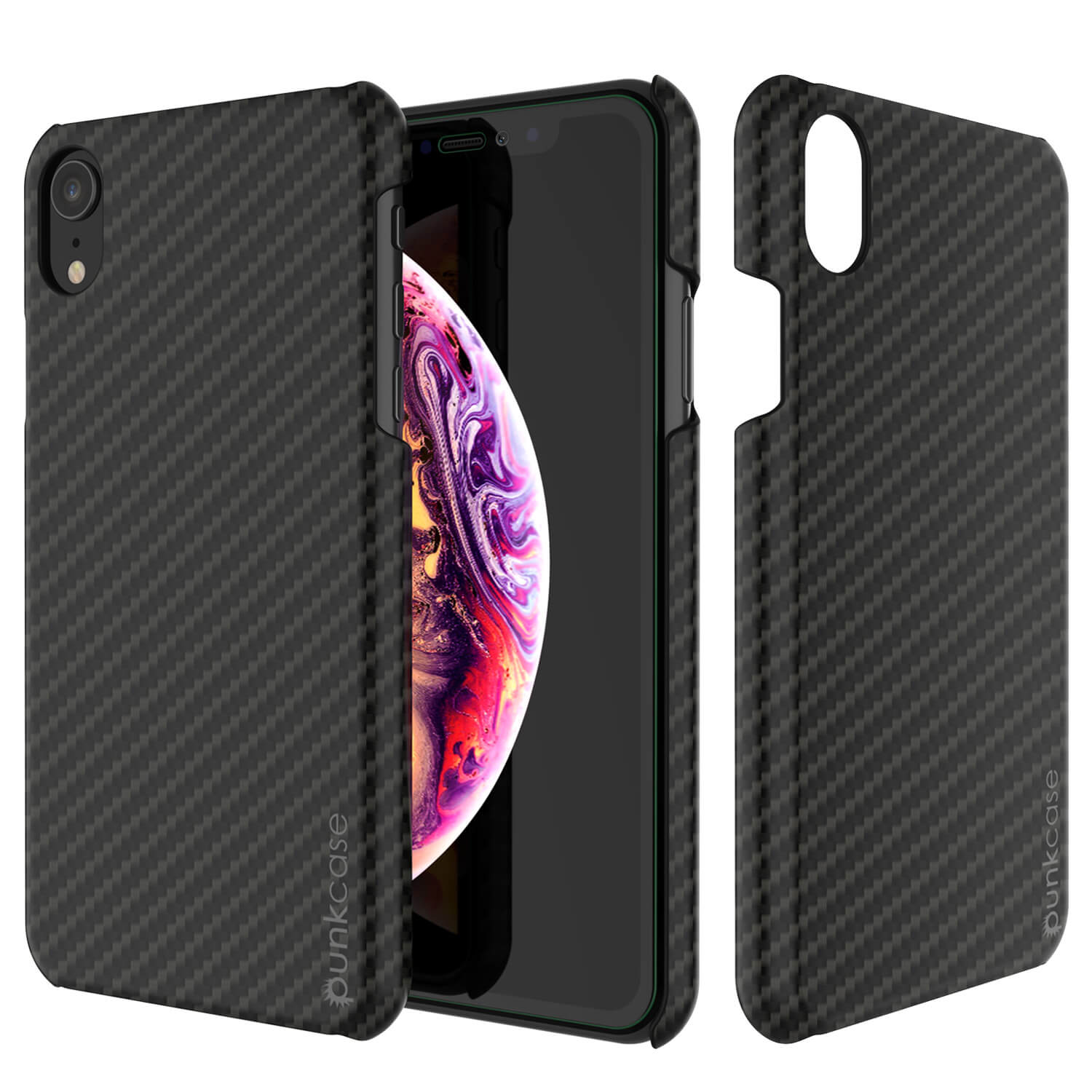 iPhone XR Case, Punkcase CarbonShield, Heavy Duty & Ultra Thin 2 Piece Dual Layer [shockproof]