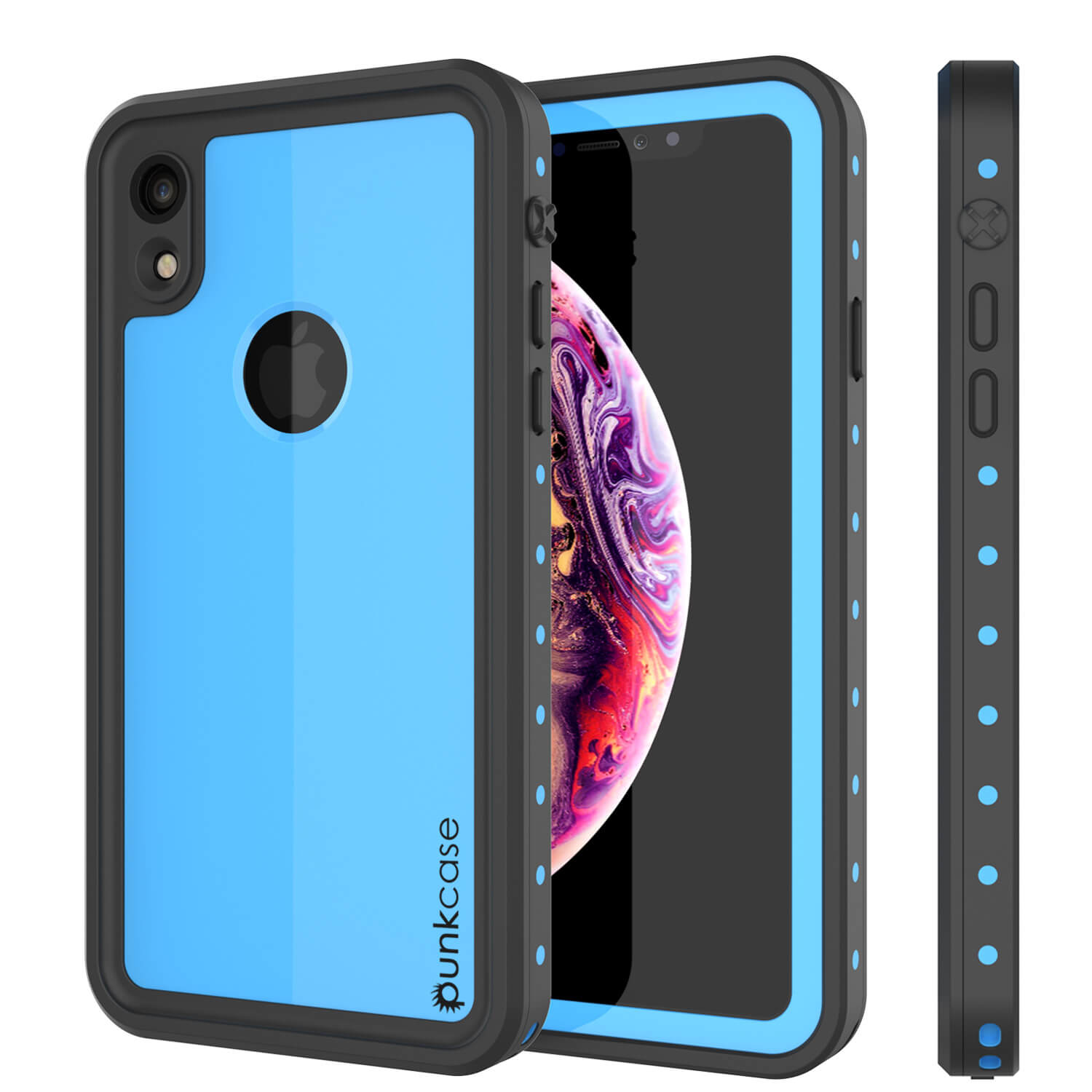 new styles e80ab 88224 iPhone XR Waterproof IP68 Case, Punkcase [Light blue] [StudStar Series