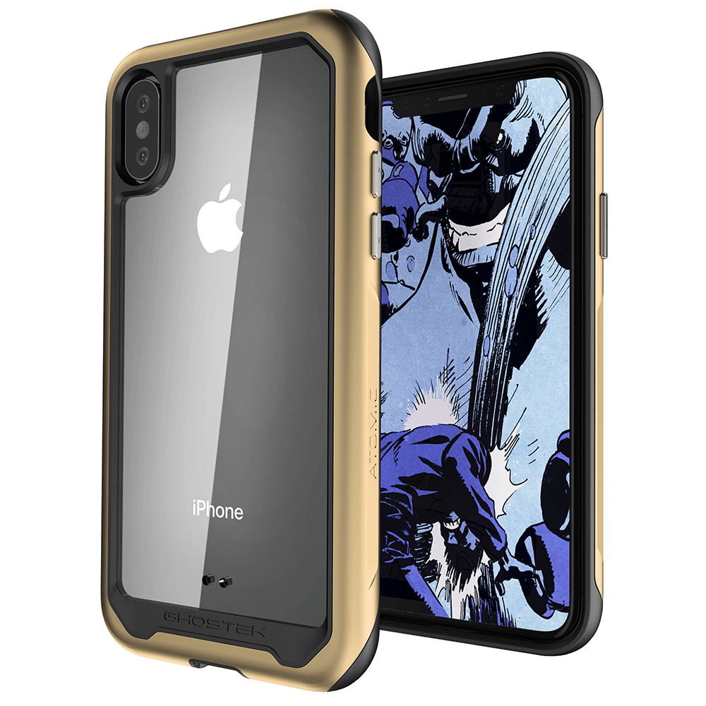 iPhone Xs Max Case, Ghostek Atomic Slim 2 Series  for iPhone Xs Max Rugged Heavy Duty Case|GOLD