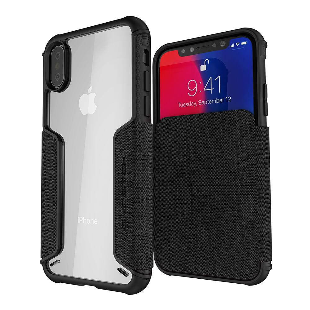 separation shoes 4334d 4bd7d iPhone Xs Max Case, Ghostek Exec 3 Series for iPhone Xs Max / iPhone Pro  Protective Wallet Case [BLACK]