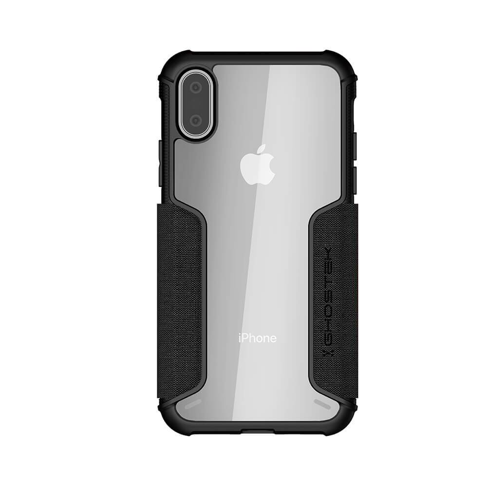 iPhone Xs Max Case, Ghostek Exec 3 Series for iPhone Xs Max / iPhone Pro Protective Wallet Case [BLACK]