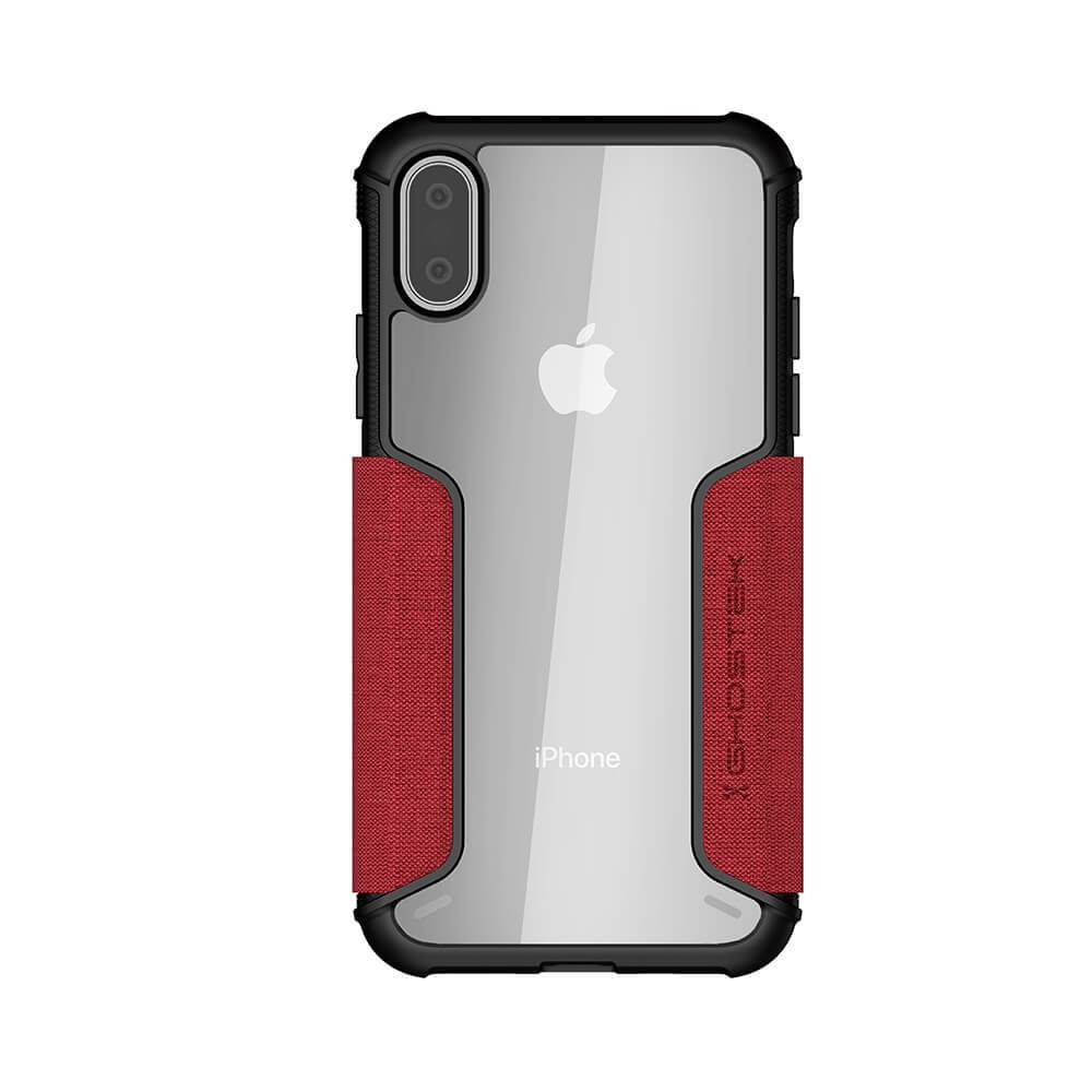 iPhone Xs Max Case, Ghostek Exec 3 Series for iPhone Xs Max / iPhone Pro Protective Wallet Case [RED]
