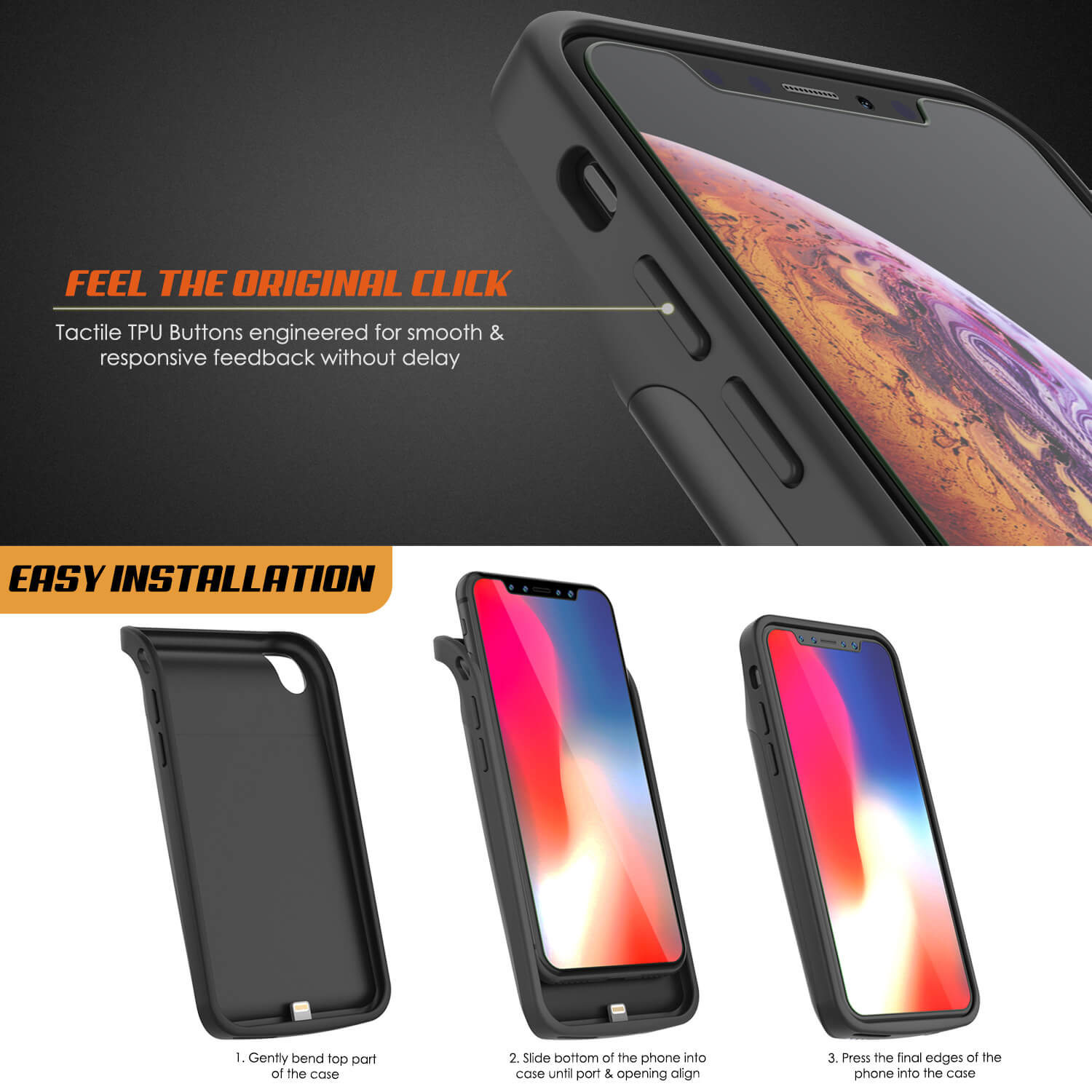huge discount 0c08f 41f77 iphone XS Max Battery Case, PunkJuice 5000mAH Fast Charging Power Bank