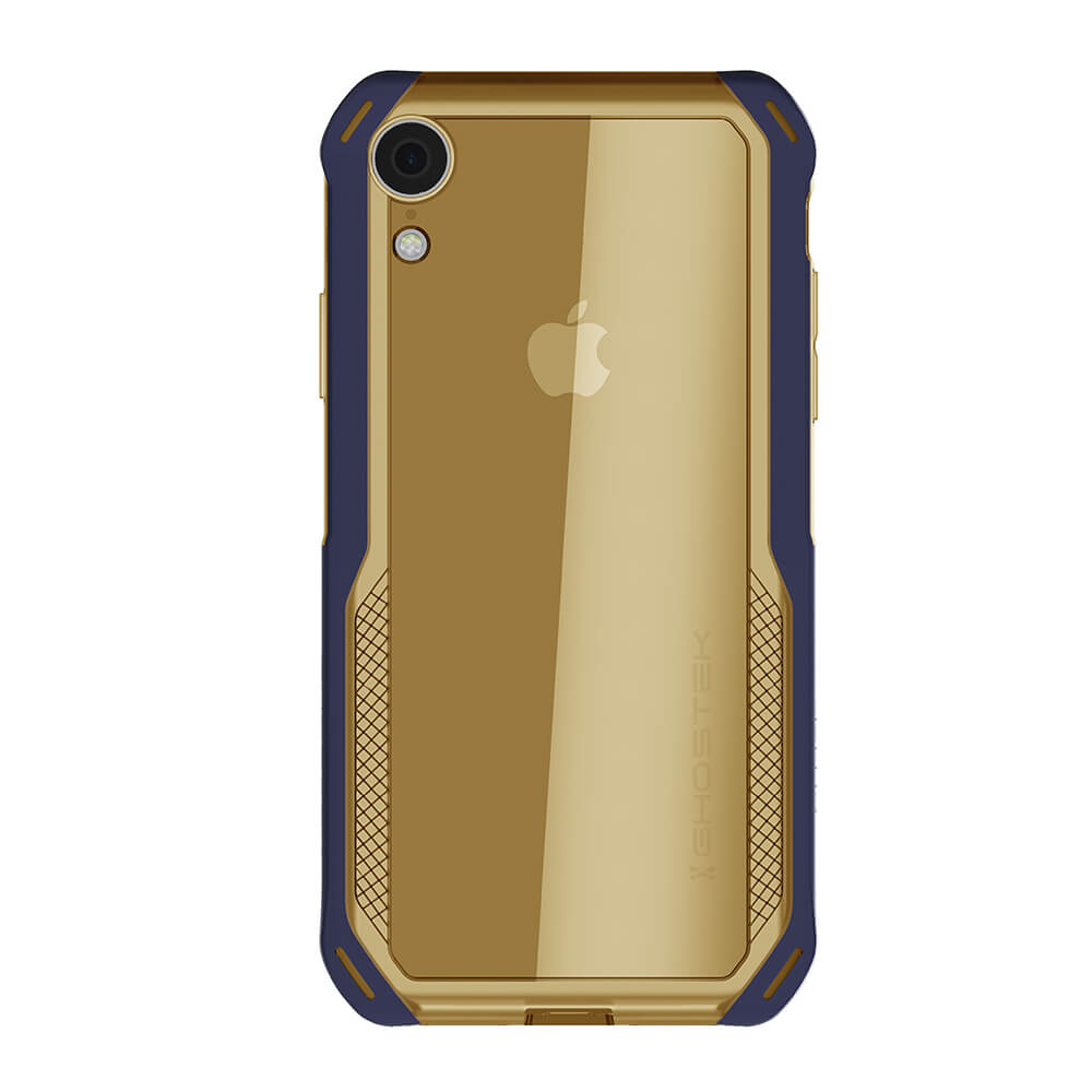 iPhone Xr Case, Ghostek Cloak 4 Series  for iPhone Xr / iPhone Pro Case | BLUE-GOLD