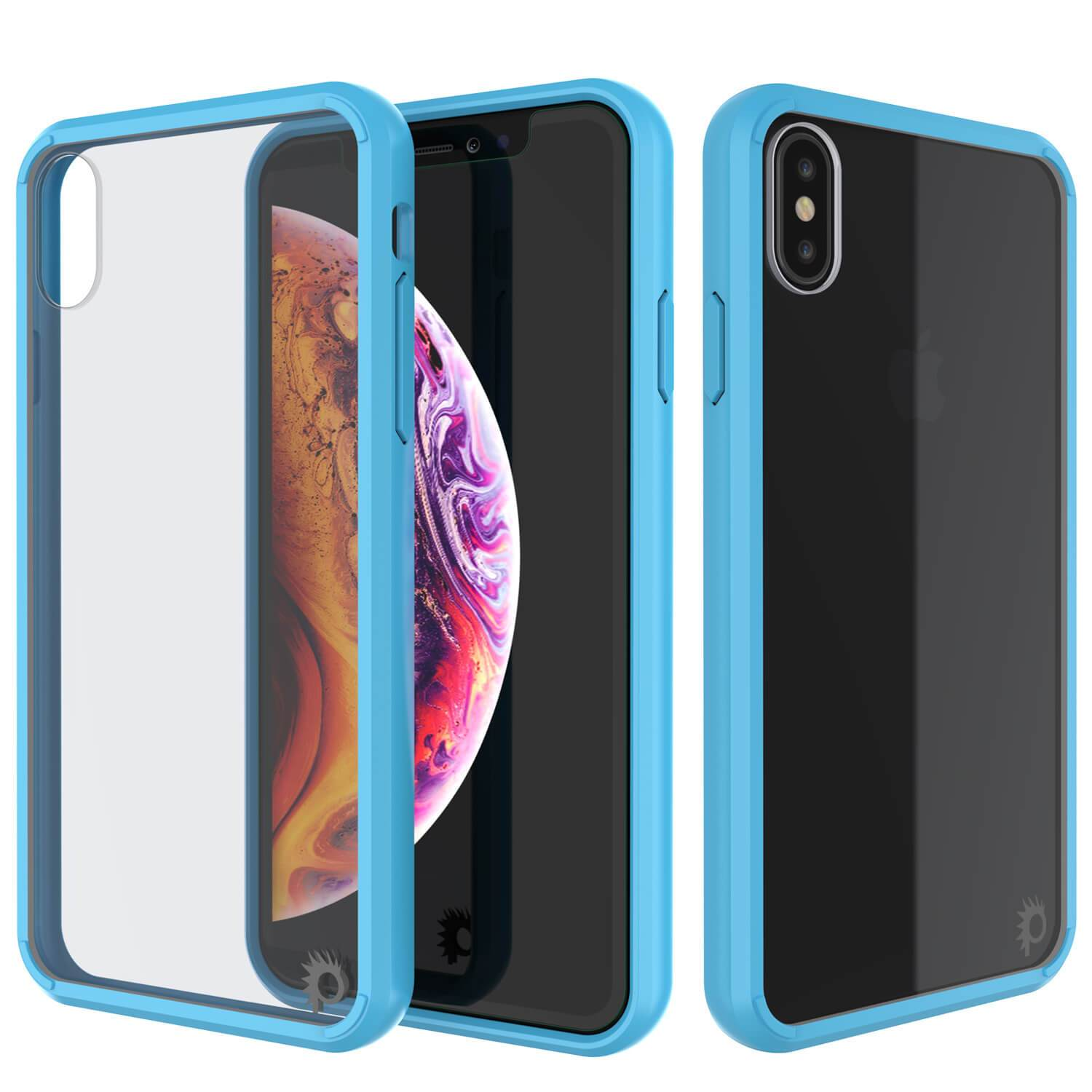 iPhone XS Case, PUNKcase [Lucid 2.0 Series] [Slim Fit] Armor Cover [Light-Blue]