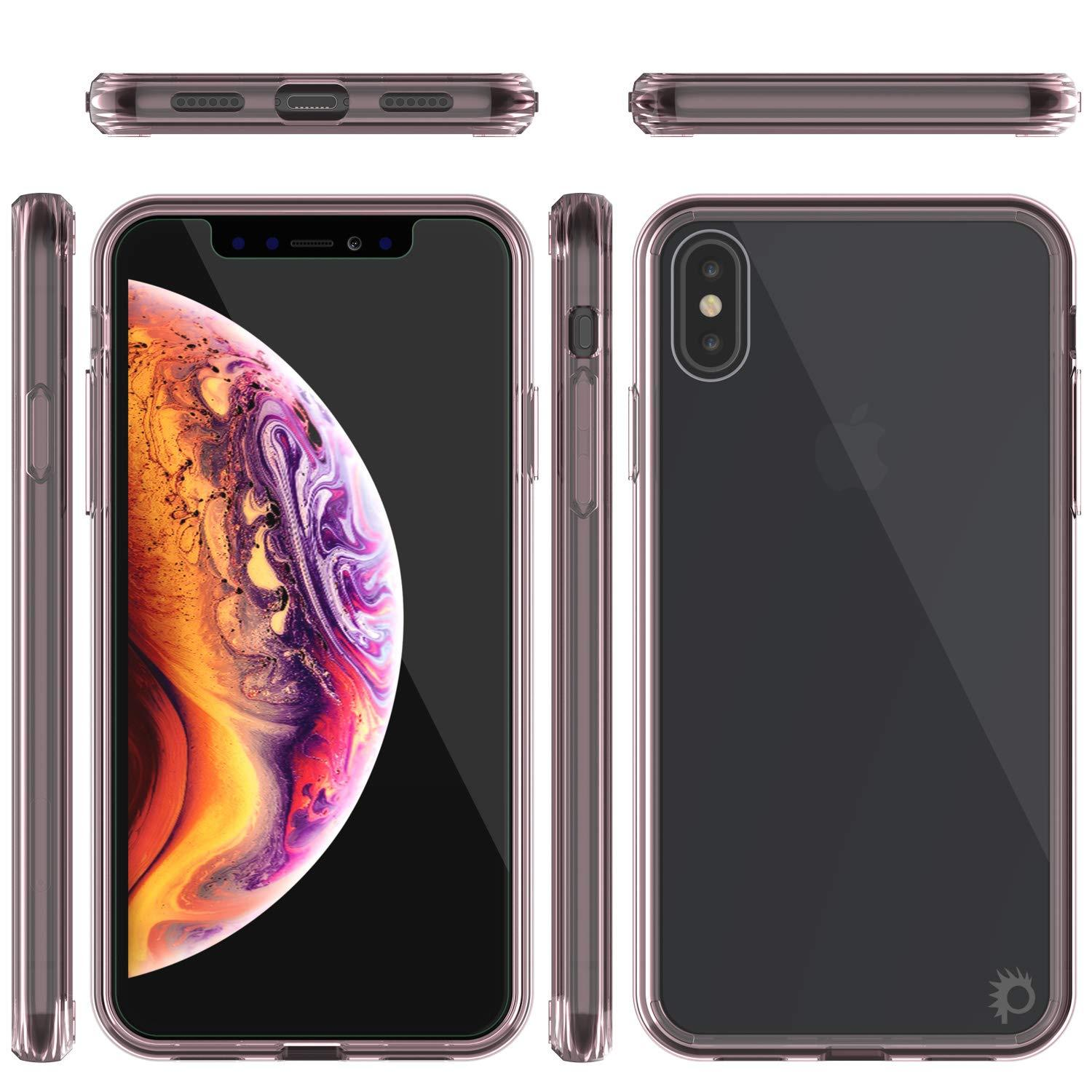 iPhone XS Case, PUNKcase [Lucid 2.0 Series] [Slim Fit] Armor Cover [Crystal-Pink]