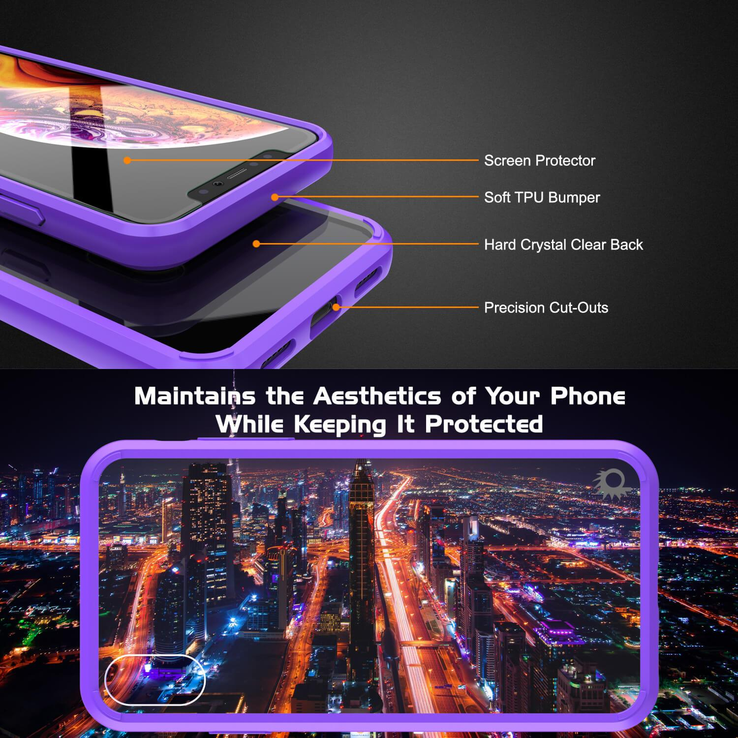 iPhone XS Case, PUNKcase [Lucid 2.0 Series] [Slim Fit] Armor Cover [Purple]