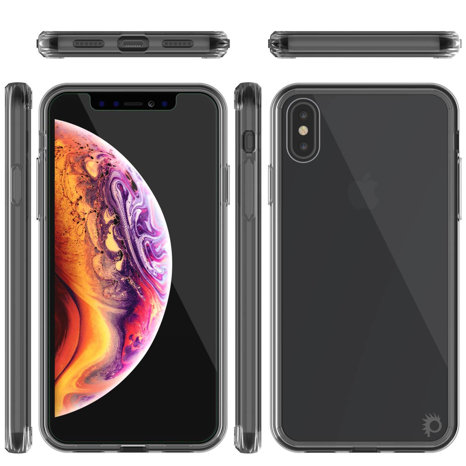 iPhone XS Case, PUNKcase [Lucid 2.0 Series] [Slim Fit] Armor Cover [Crystal-Black]