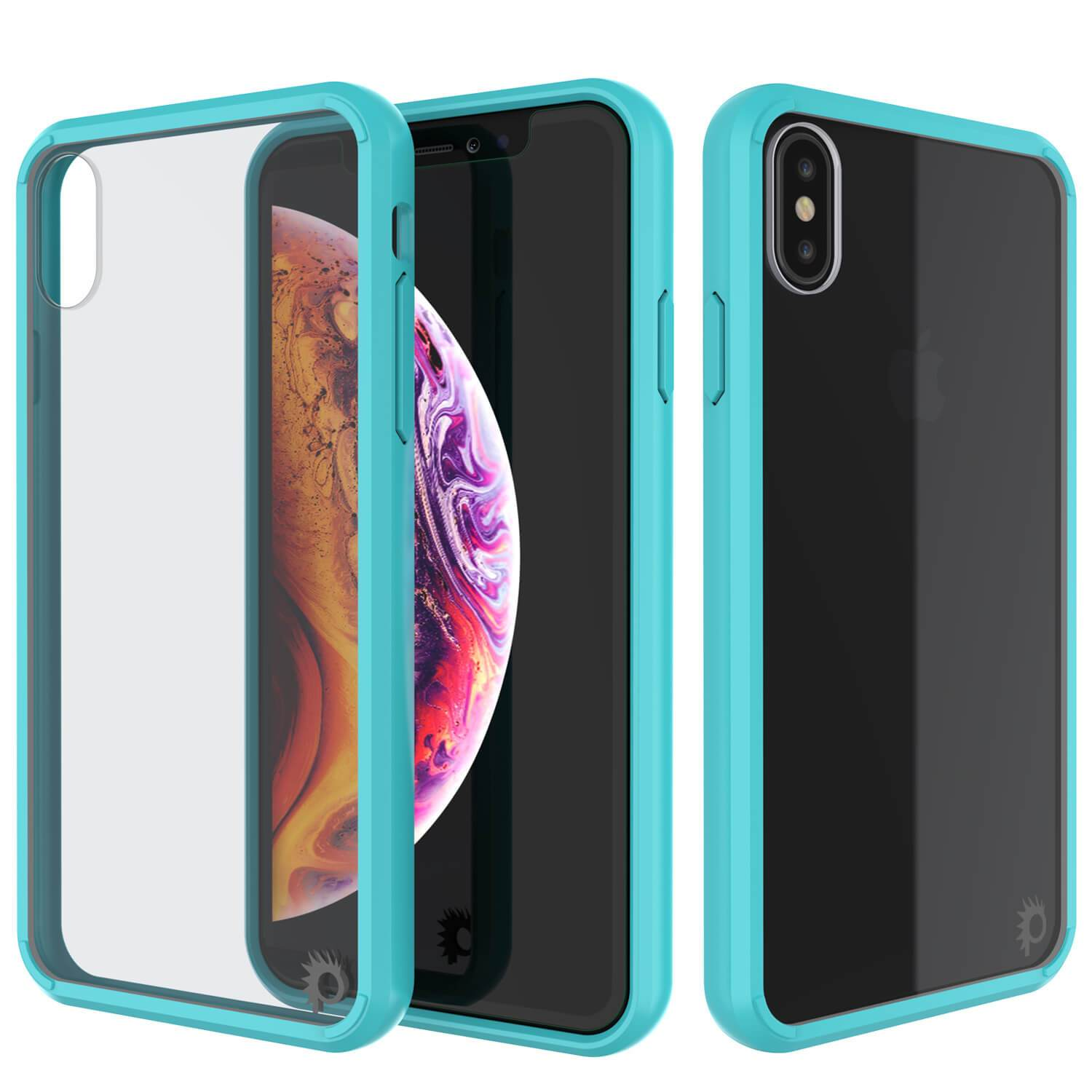 iPhone XS Case, PUNKcase [Lucid 2.0 Series] [Slim Fit] Armor Cover [Teal]