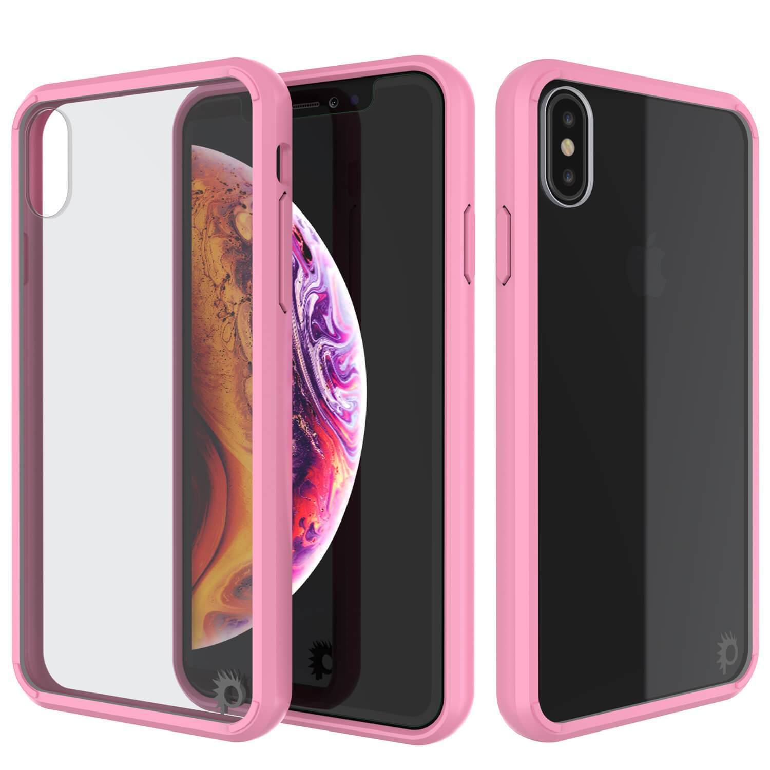 iPhone XS Case, PUNKcase [Lucid 2.0 Series] [Slim Fit] Armor Cover [Pink]