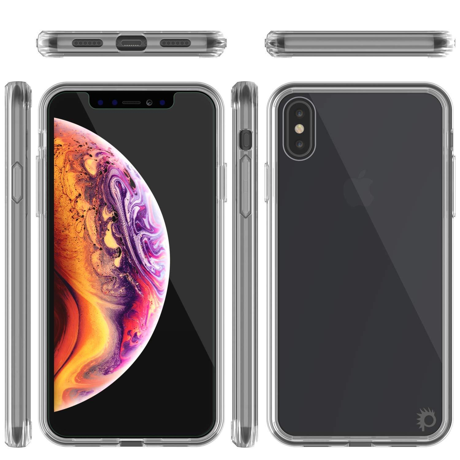 iPhone XS Case, PUNKcase [Lucid 2.0 Series] [Slim Fit] Armor Cover [Clear]