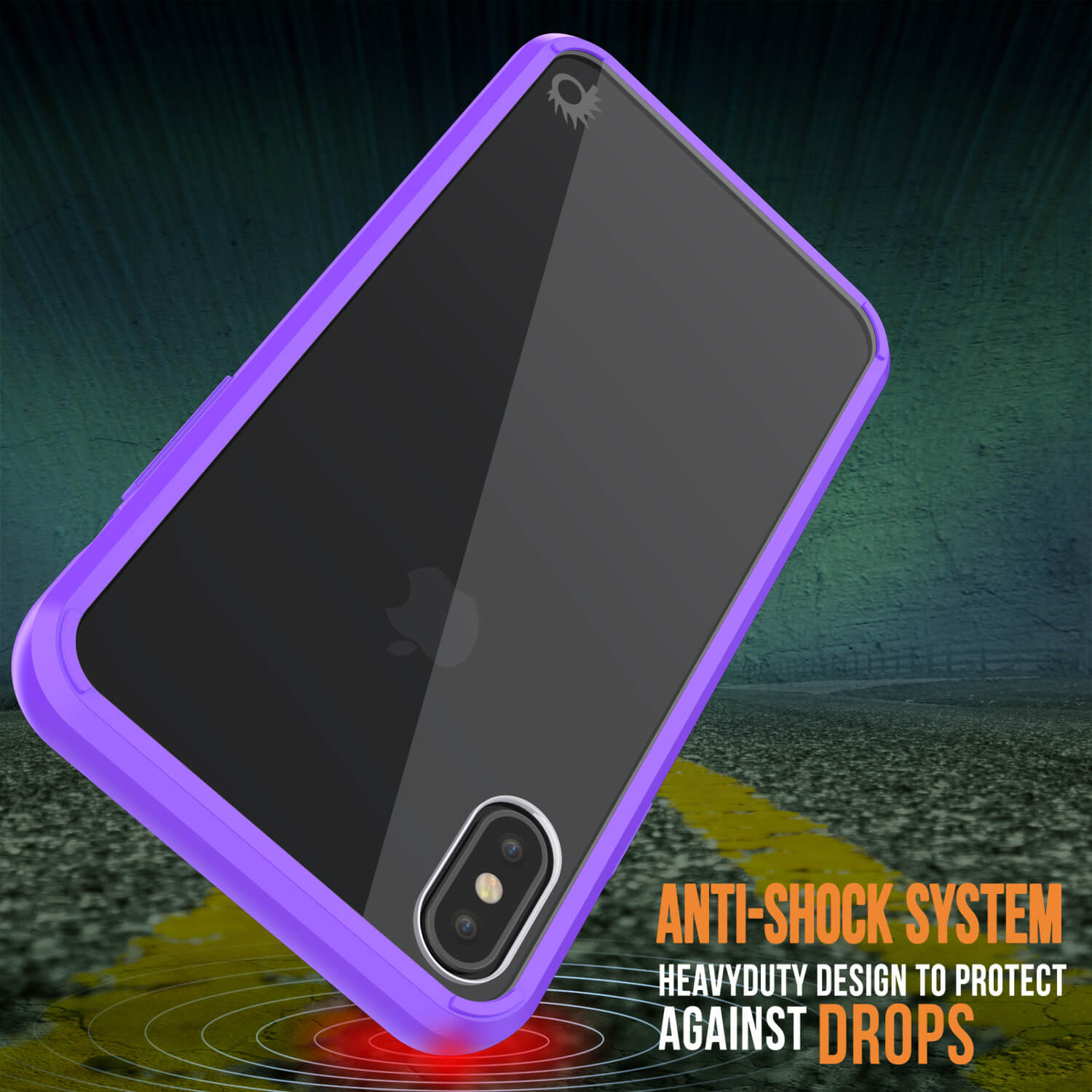 iPhone XS Max Case, PUNKcase [Lucid 2.0 Series] [Slim Fit] Armor Cover [Purple]