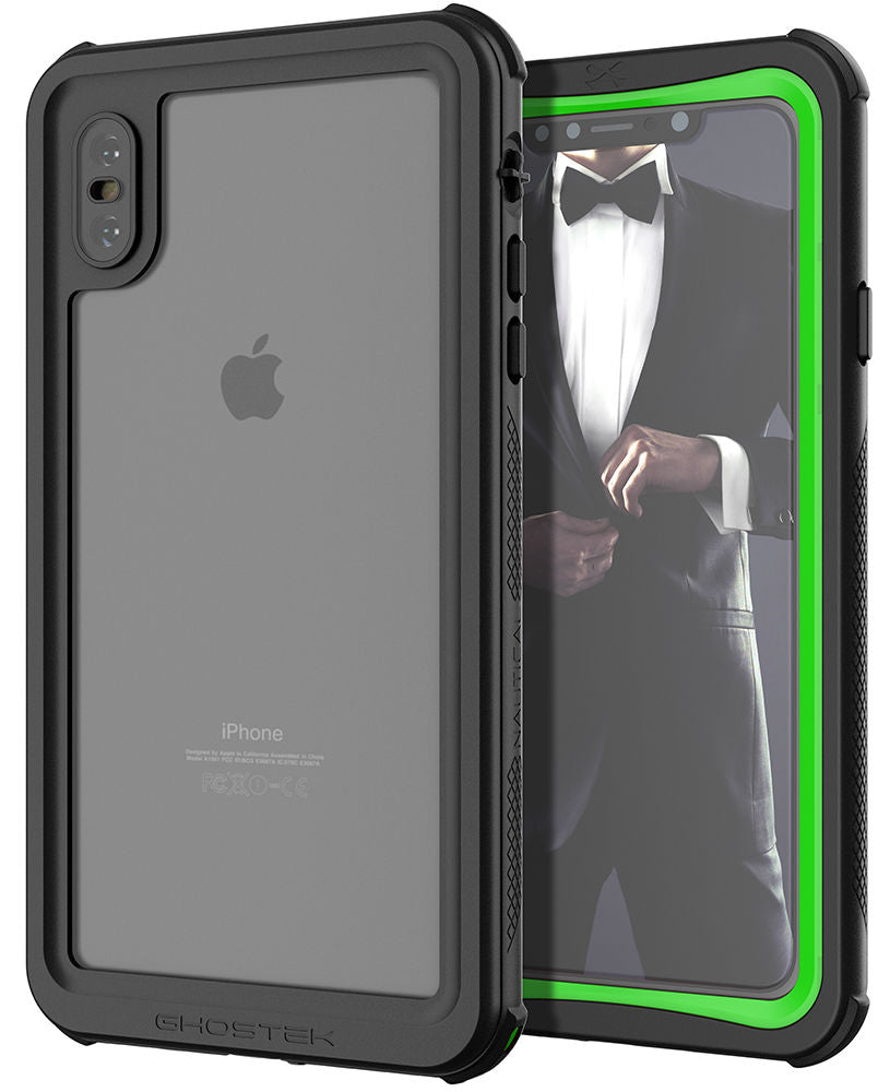 premium selection ab8e4 99cdd iPhone XS Max Case ,Ghostek Nautical Series for iPhone XS Max Rugged Heavy  Duty Case | GREEN