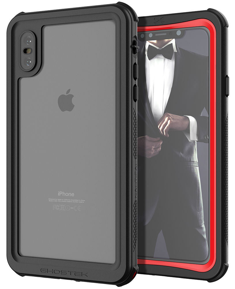 half off e7c9e 64611 iPhone XS Max Case ,Ghostek Nautical Series for iPhone XS Max Rugged Heavy  Duty Case | RED