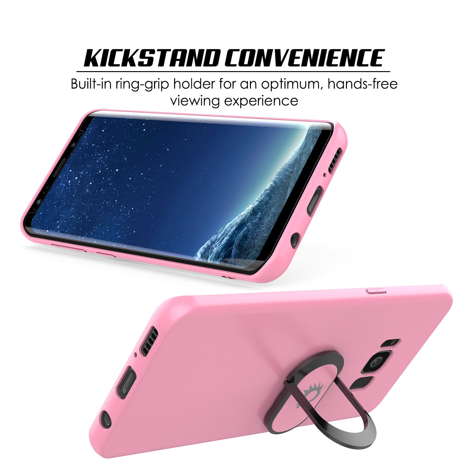 Galaxy S8 PLUS, Punkcase Magnetix Protective TPU Cover W/ Kickstand, Screen Protector [Pink]