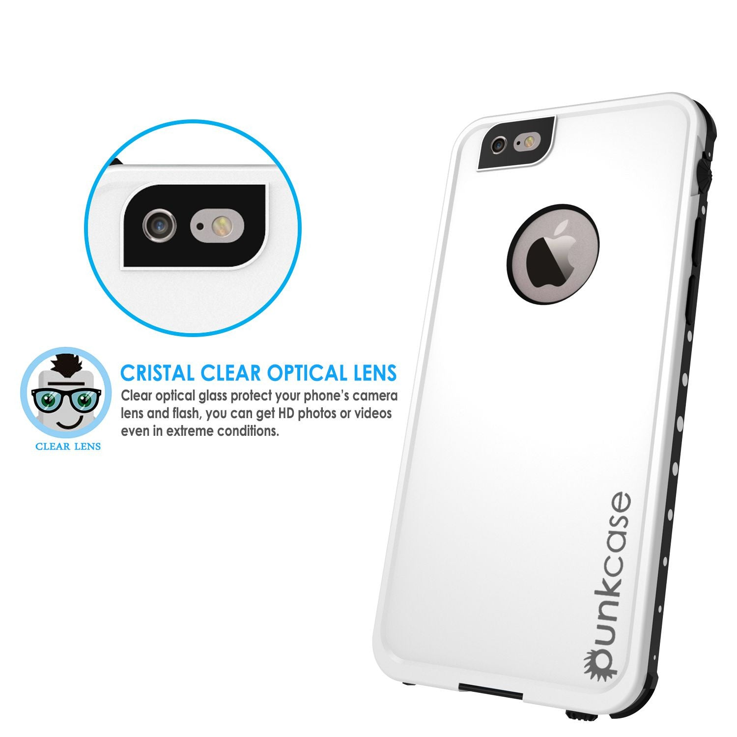 iPhone 6s/6 Waterproof Case PunkCase StudStar White w/ Attached Screen Protector | Lifetime Warranty