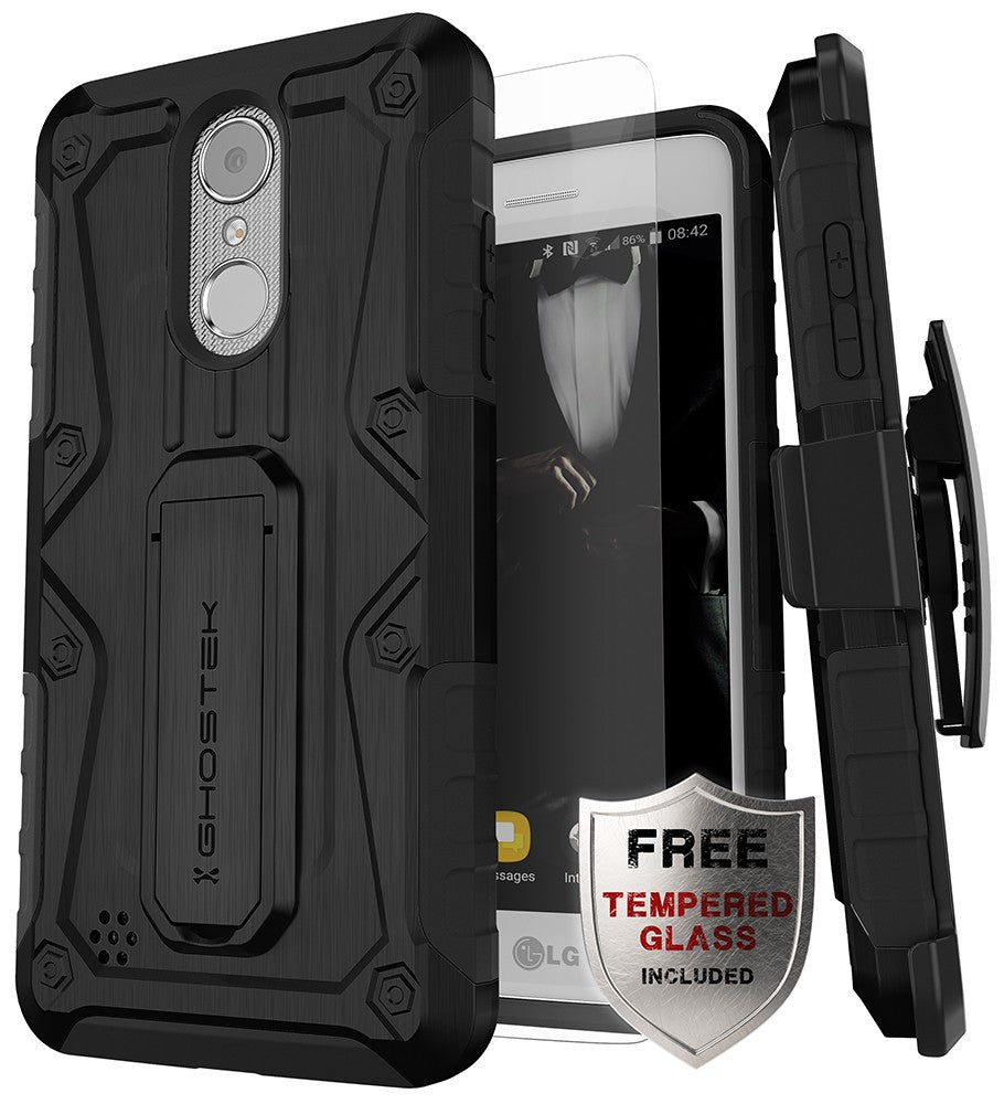 san francisco a14eb 155b9 LG K8 2018 / Aristo 2 / Tribute Dynasty Rugged Heavy Duty Case | Iron Armor  Series [Black]