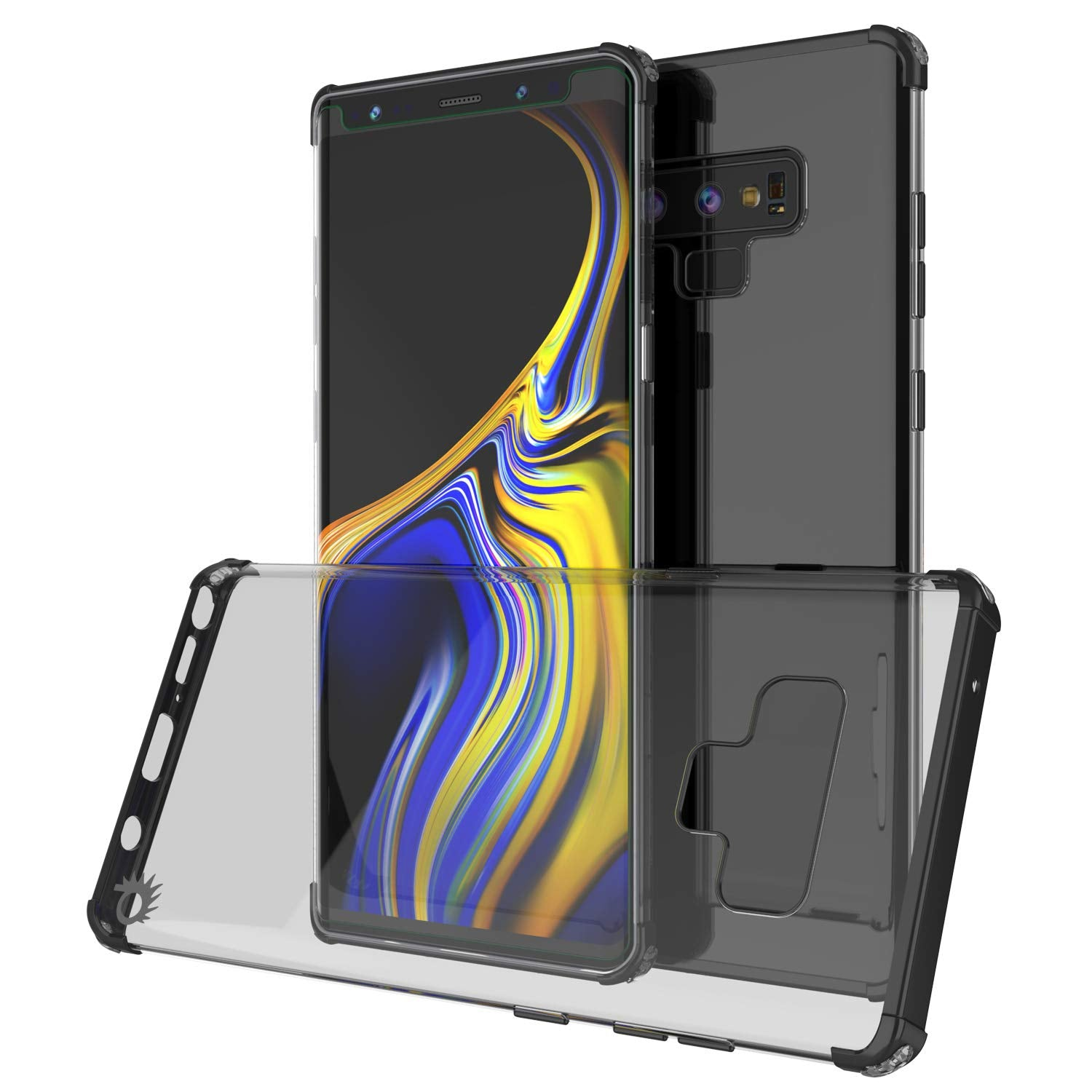 Galaxy Note 9 Blaze Series Shockproof Slim Case W/PunkShield Screen Protector [Black]