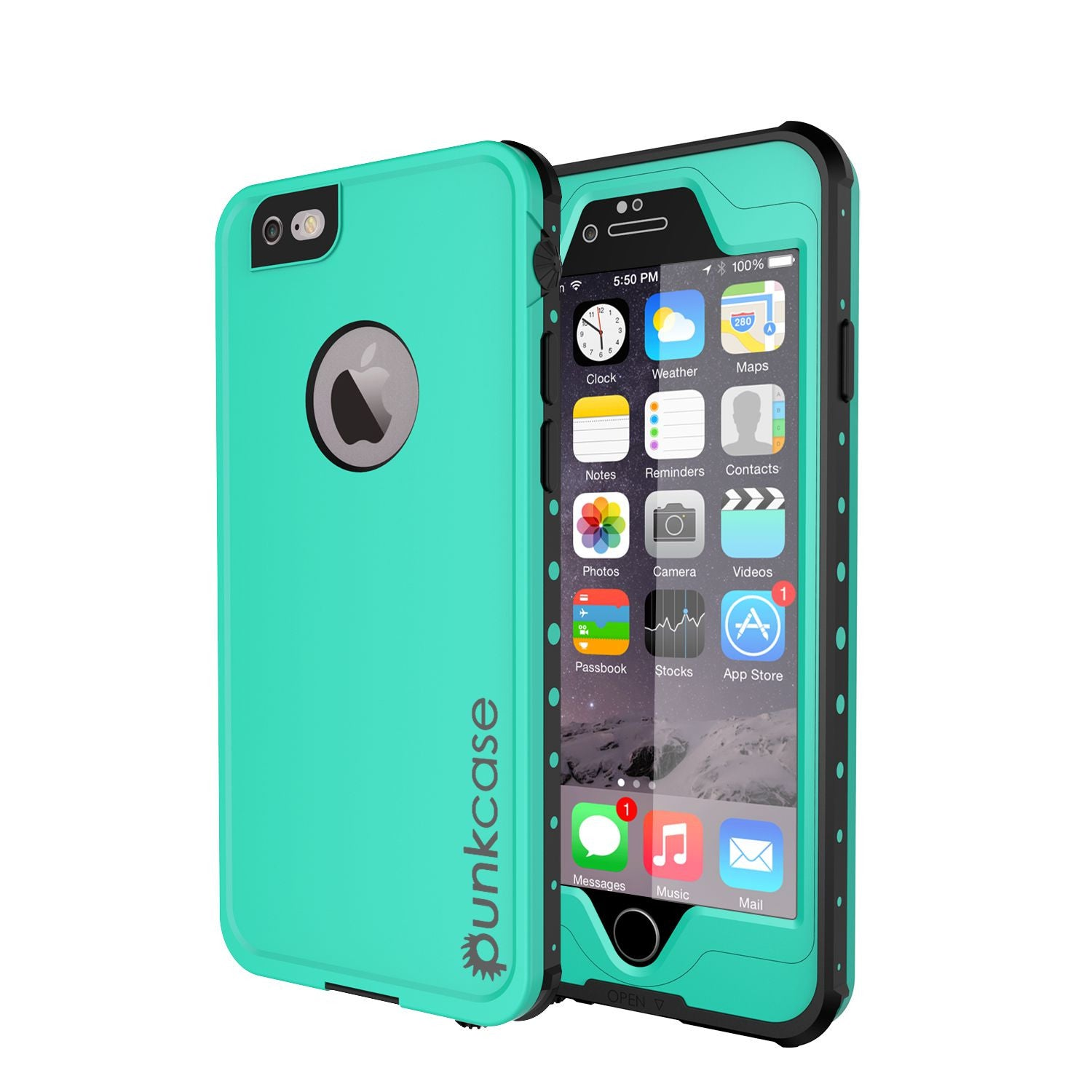 iPhone 6S+/6+ Plus Waterproof Case, PUNKcase StudStar Teal w/ Attached Screen Protector | Warranty