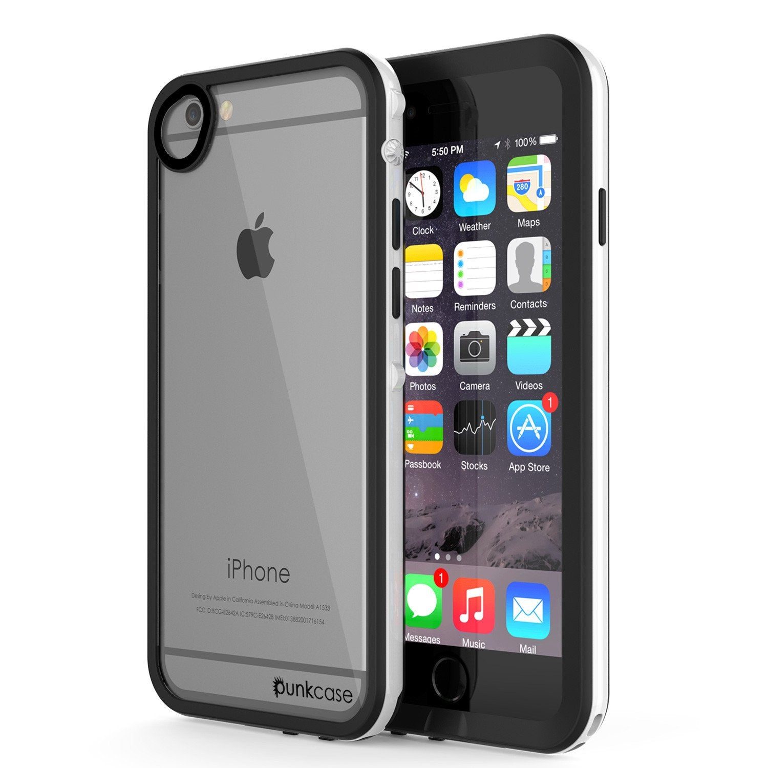 Apple iPhone 8 Waterproof Case, PUNKcase CRYSTAL 2.0 White W/ Attached Screen Protector  | Warranty