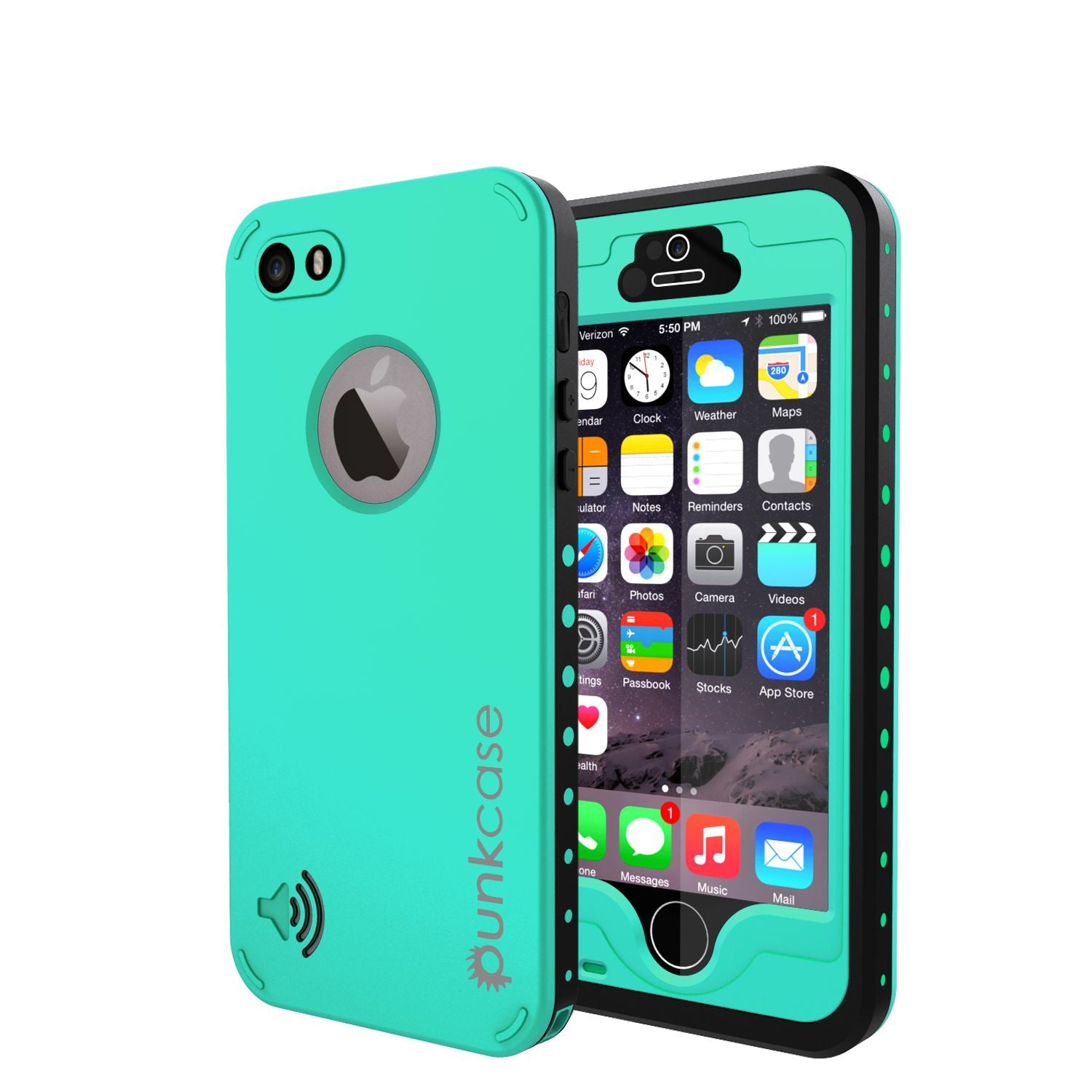 classic fit c596d 2fac4 iPhone 5S/5 Waterproof Case, PunkCase StudStar Teal Case Water/Shock/Dirt  Proof | Lifetime Warranty
