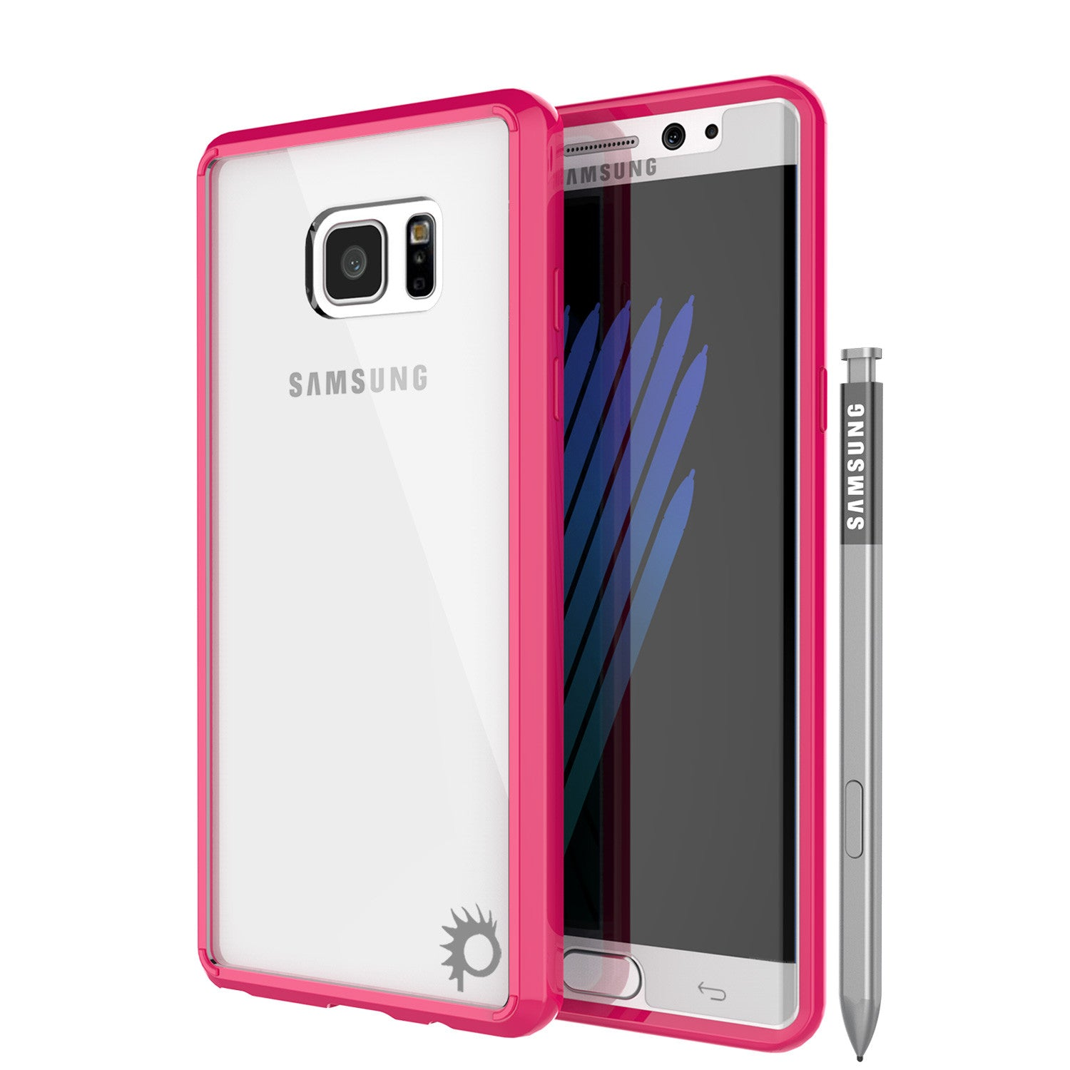 Note 7 Case Punkcase® LUCID 2.0 Pink Series w/ PUNK SHIELD Screen Protector | Ultra Fit