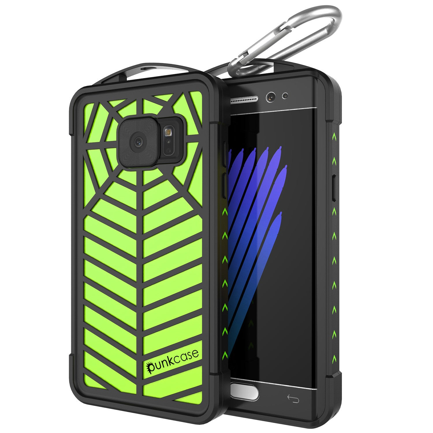 Galaxy Note 7 Waterproof Case, Punkcase WEBSTER Series, Light Green | Heavy Duty Armor Cover