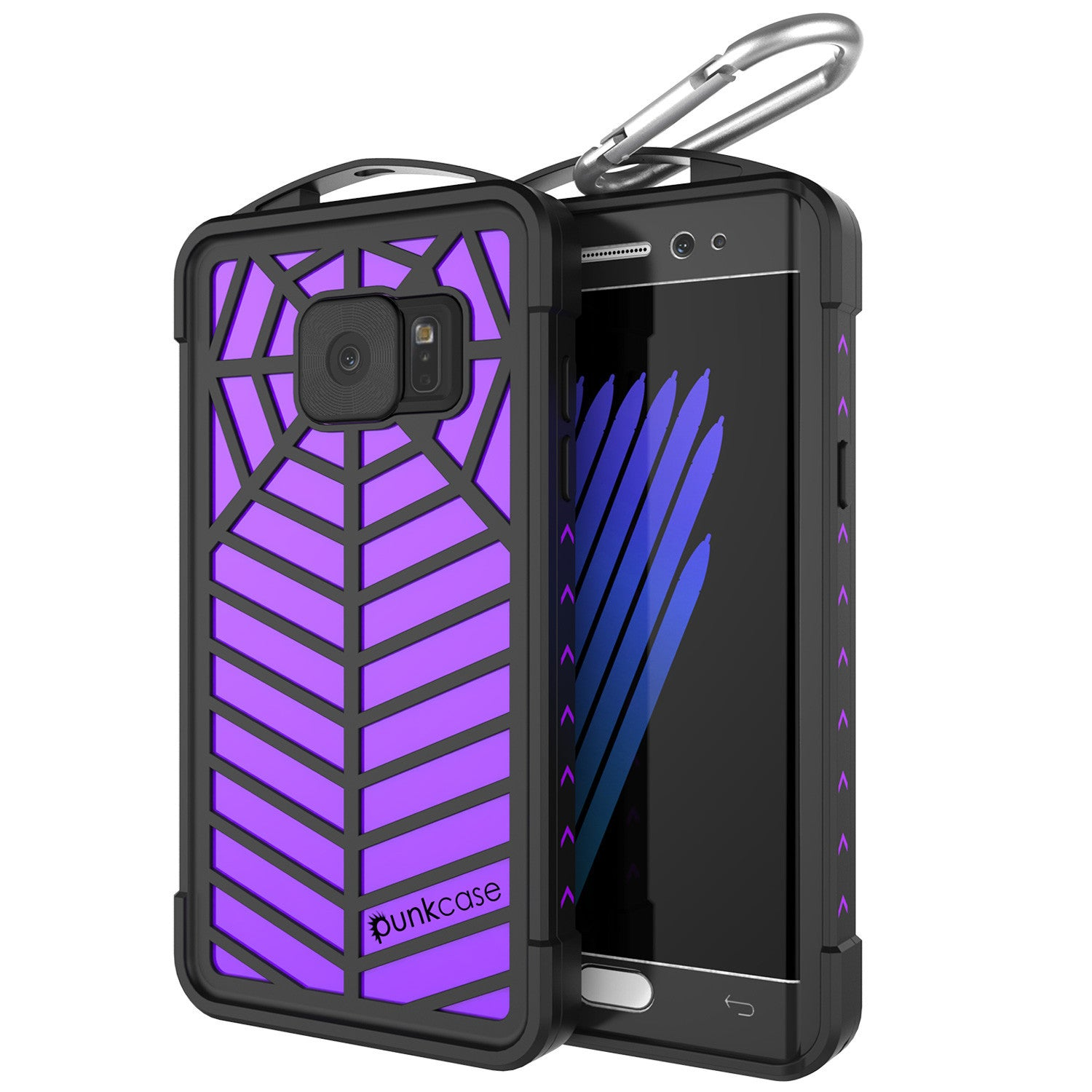 Galaxy Note 7 Waterproof Case, Punkcase WEBSTER Series, Purple | Heavy Duty Armor Cover