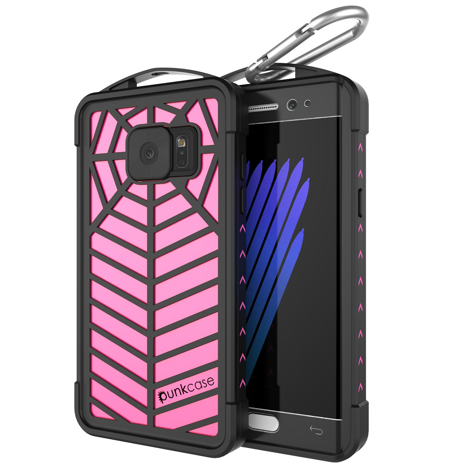 Galaxy Note 7 Waterproof Case, Punkcase WEBSTER Series, Pink | Heavy Duty Armor Cover