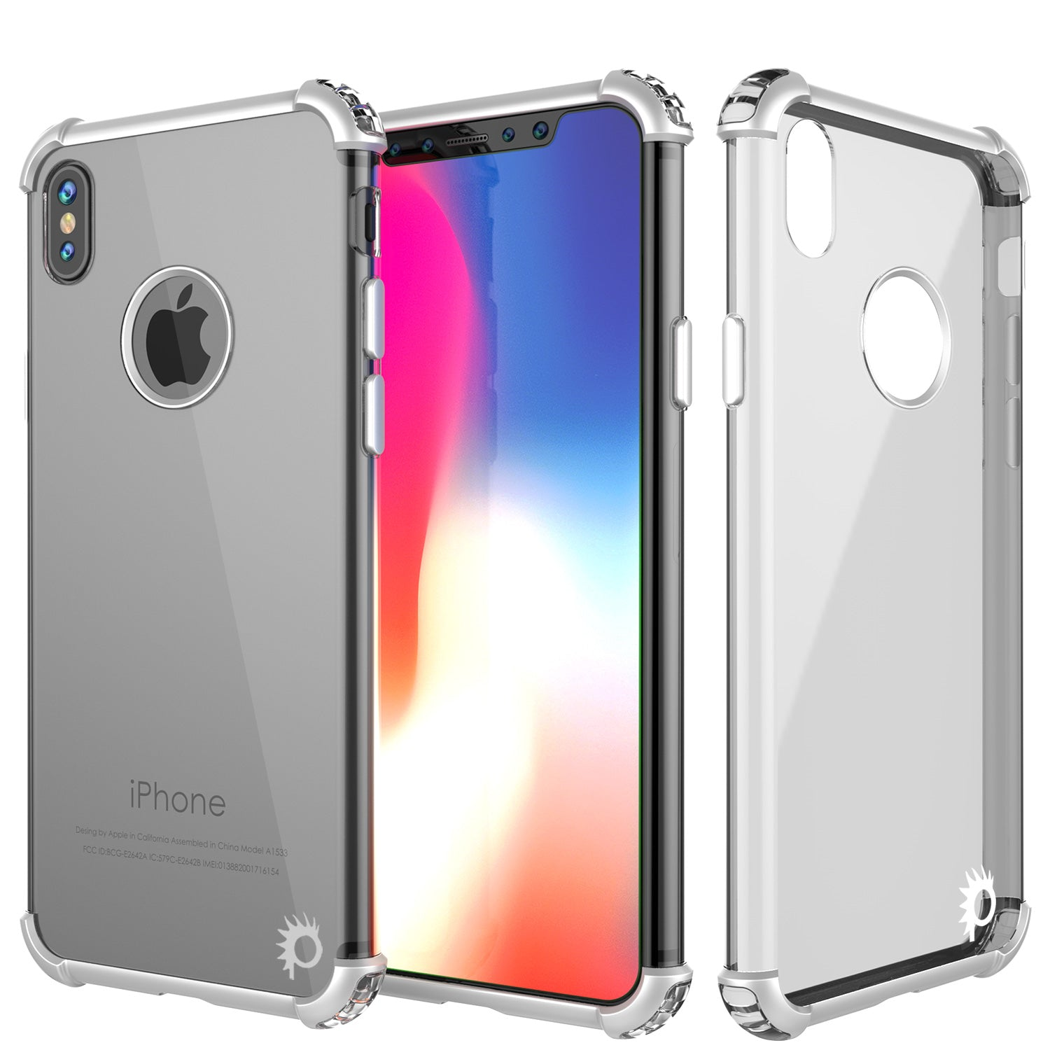 iPhone X Case, Punkcase BLAZE Silver Series Protective Cover W/ PunkShield Screen Protector