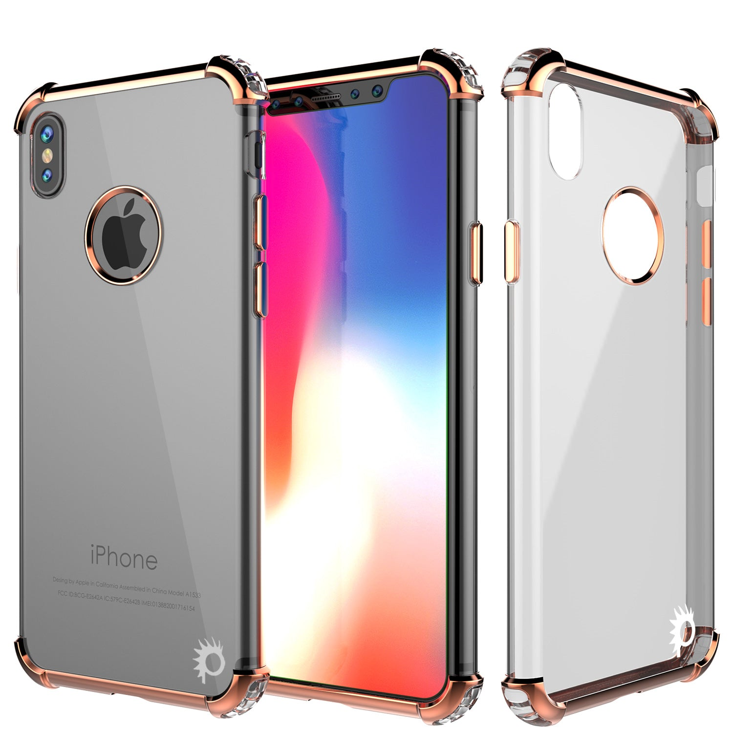iPhone X Case, Punkcase BLAZE RoseGold Series Protective Cover W/ PunkShield Screen Protector