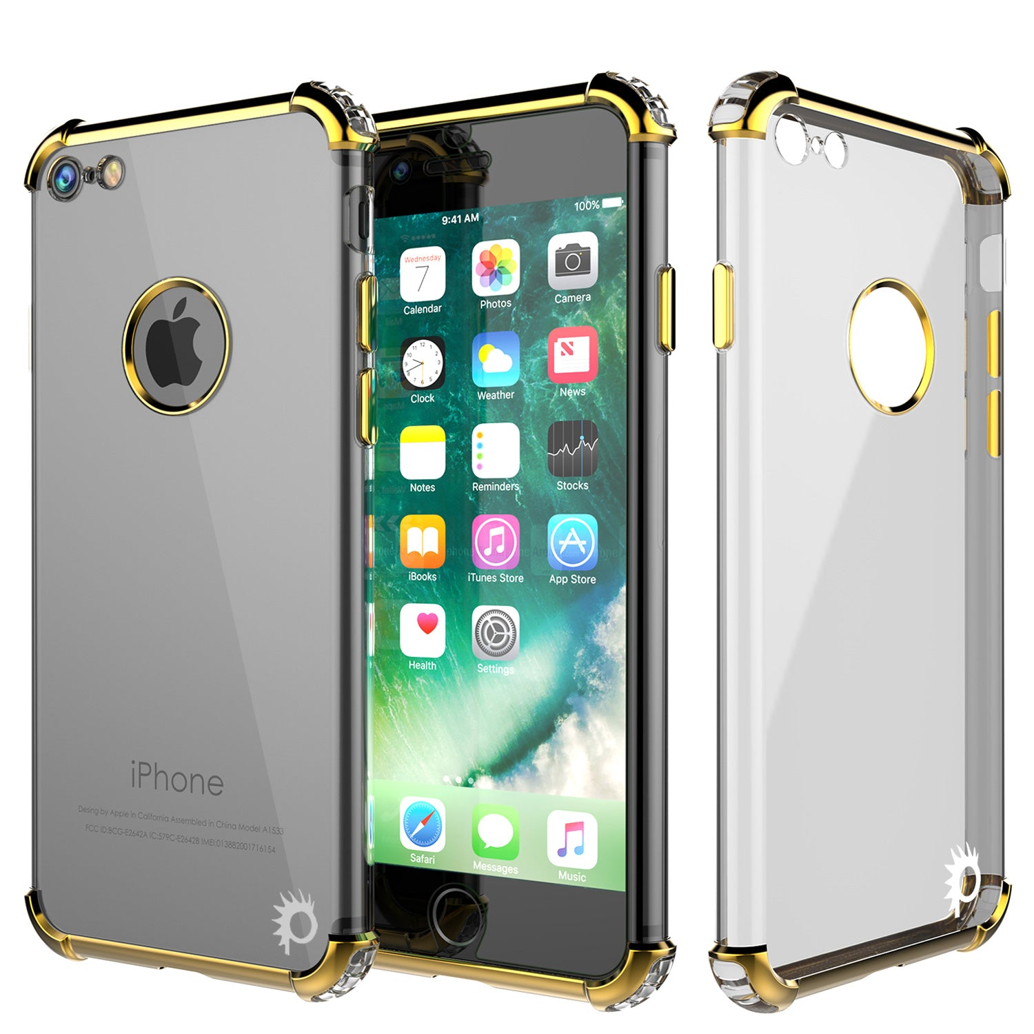 iPhone 7 Case, Punkcase [BLAZE GOLD SERIES] Protective Cover W/ PunkShield Screen Protector
