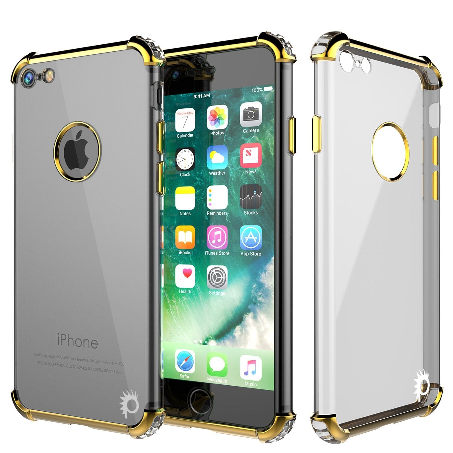 "iPhone SE (4.7"") Case, Punkcase [BLAZE SERIES] Protective Cover W/ PunkShield Screen Protector [Shockproof] [Slim Fit] for Apple iPhone [Gold]"