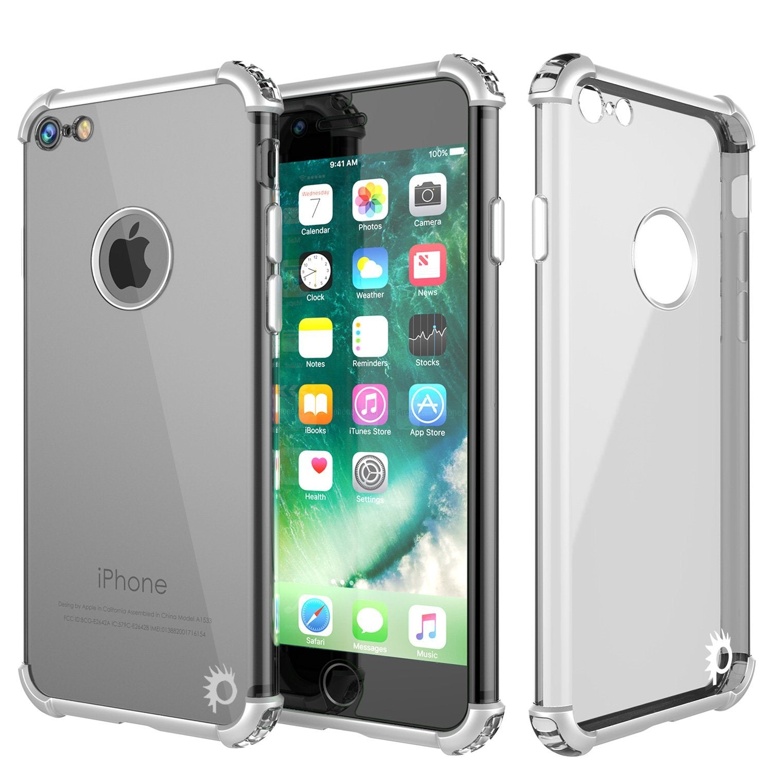 "iPhone SE (4.7"") Case, Punkcase [BLAZE SERIES] Protective Cover W/ PunkShield Screen Protector [Shockproof] [Slim Fit] for Apple iPhone [Silver]"