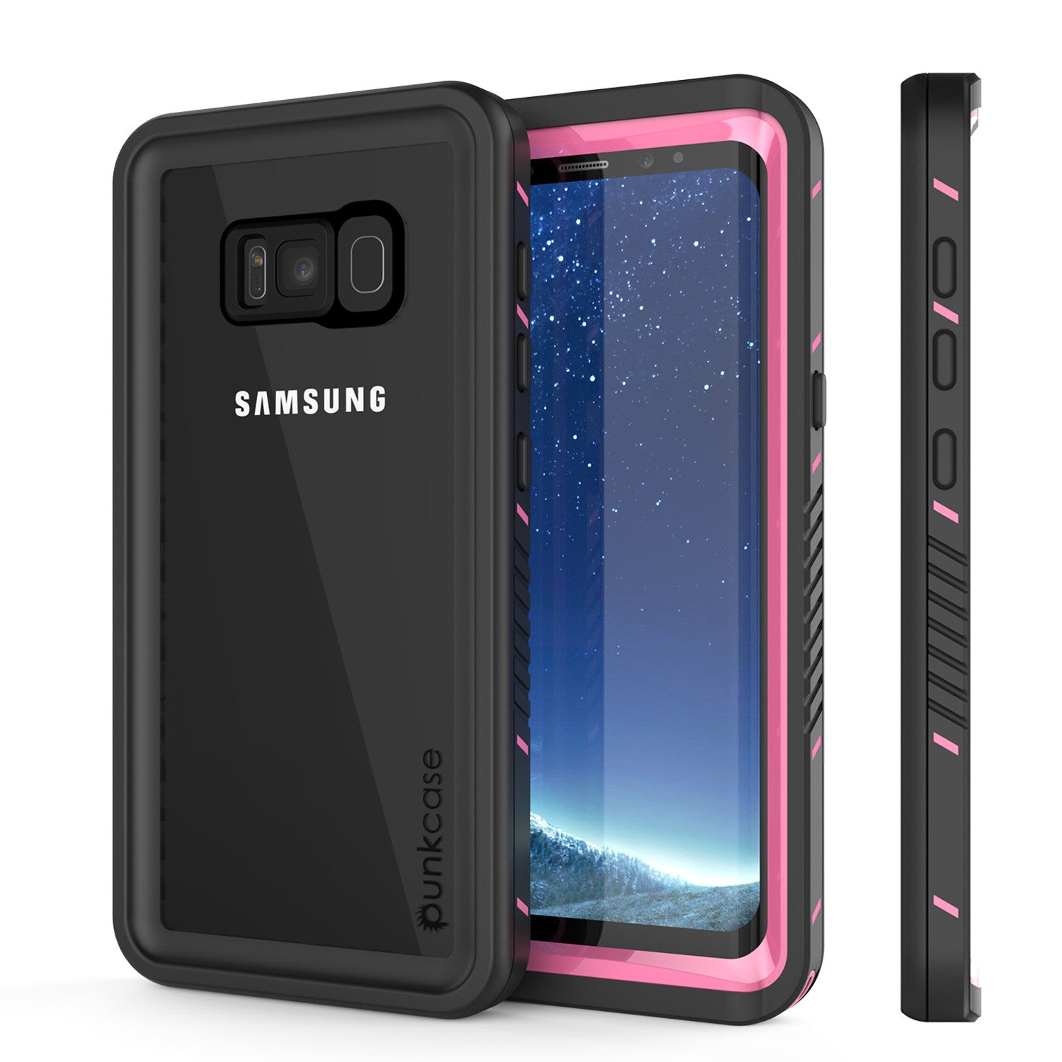 Galaxy S8 PLUS Waterproof Case, Punkcase [Extreme Series] Slim Fit, Armor Cover W/ Built In Screen Protector for Samsung Galaxy S8+ [Pink]