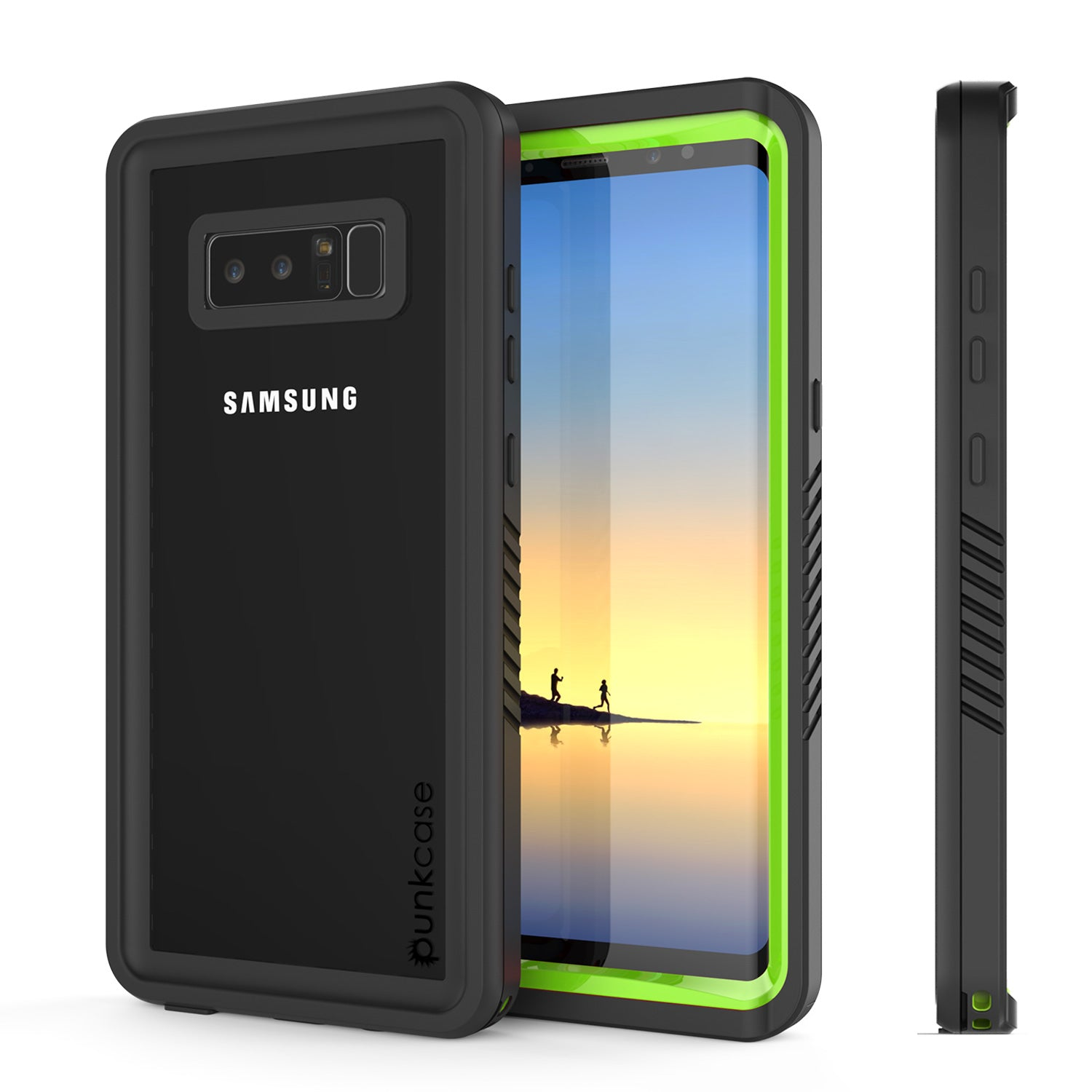 Galaxy Note 8 Anti-Shock Screen Protector Slim-Fit Case [Light Green]