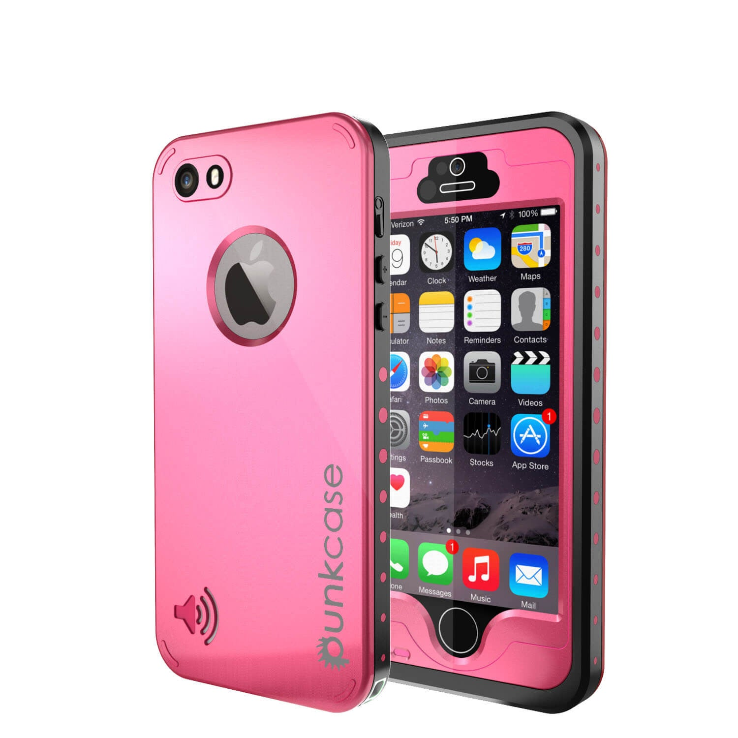 iPhone 5S/5 Waterproof Case, PunkCase StudStar Pink Case Water/Shock/Dirt Proof | Lifetime Warranty
