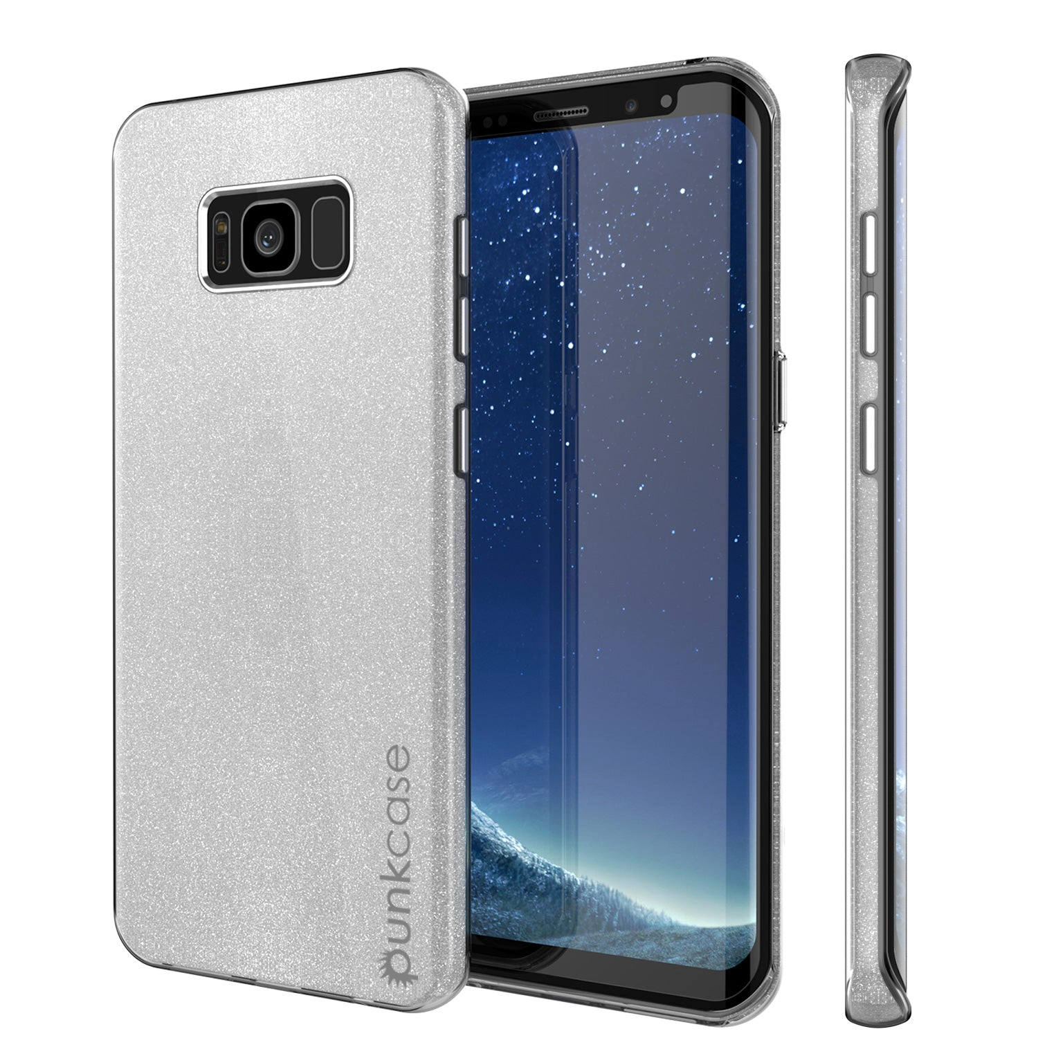 Galaxy S8 Case, Punkcase Galactic 2.0 Series Ultra Slim Protective Armor TPU Cover w/ PunkShield Screen Protector [Silver]