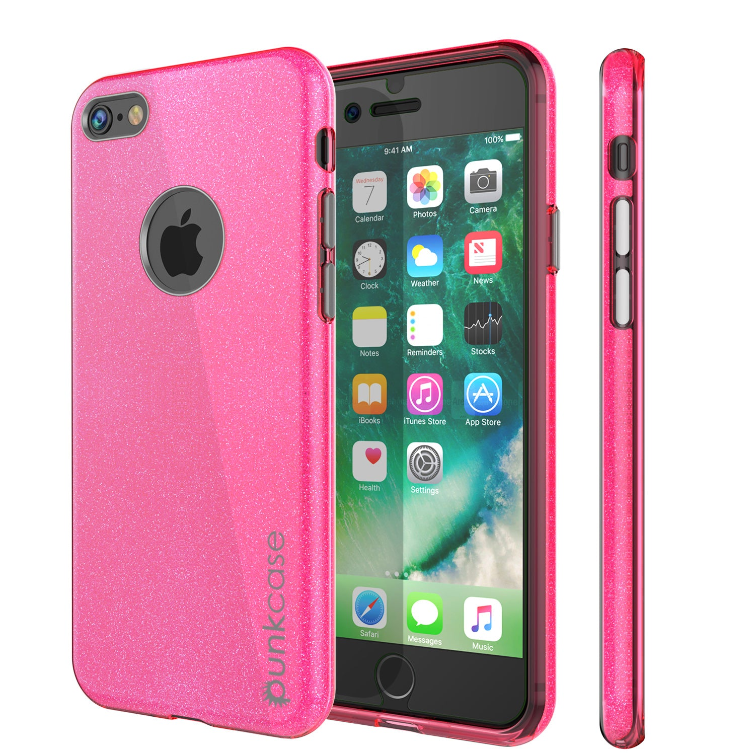iPhone 8 Case, Punkcase Galactic 2.0 Series Ultra Slim Protective Armor TPU Cover [Pink]