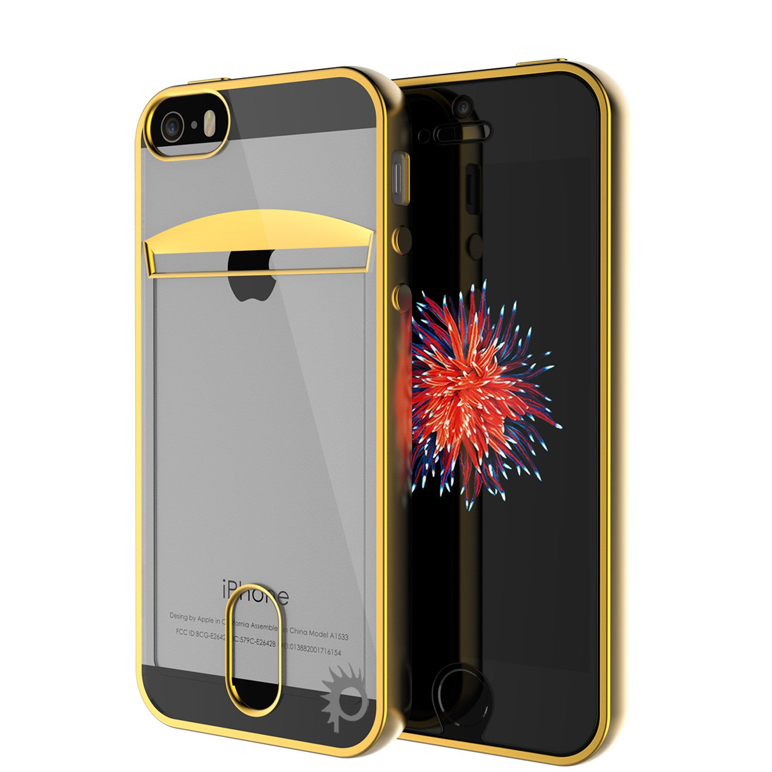 iPhone SE/5S/5 Case, PUNKCASE® LUCID Gold Series | Card Slot | SHIELD Screen Protector | Ultra fit